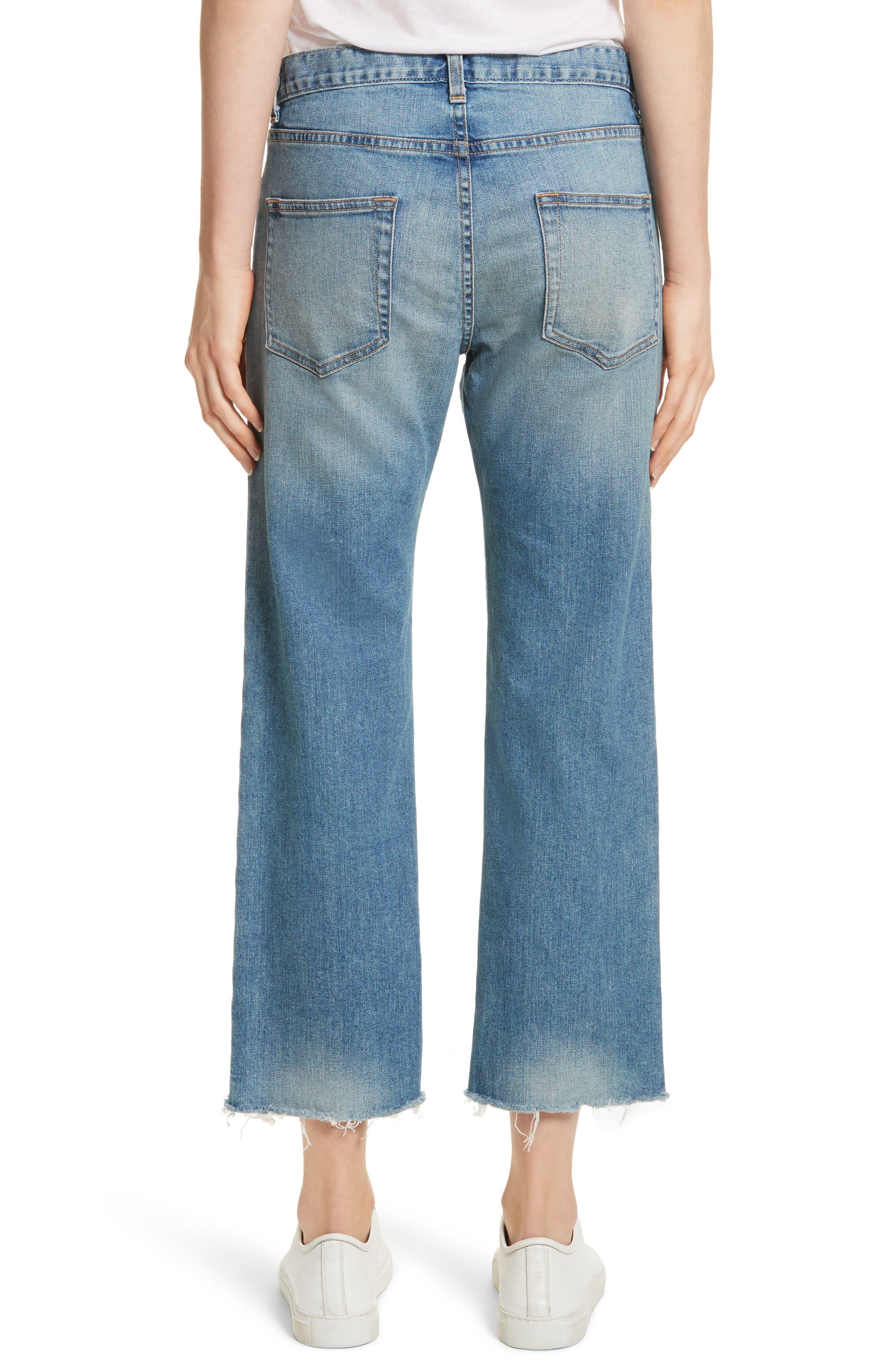 NILI LOTAN,                             Raw Edge Crop Boyfriend Jeans,                             Alternate thumbnail 2, color,                             VENICE WASH