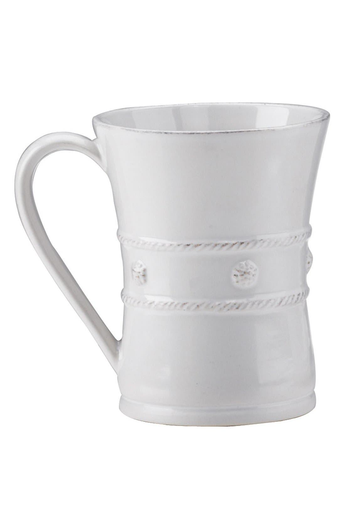 'Berry and Thread' Ceramic Coffee Mug,                             Main thumbnail 1, color,                             WHITEWASH
