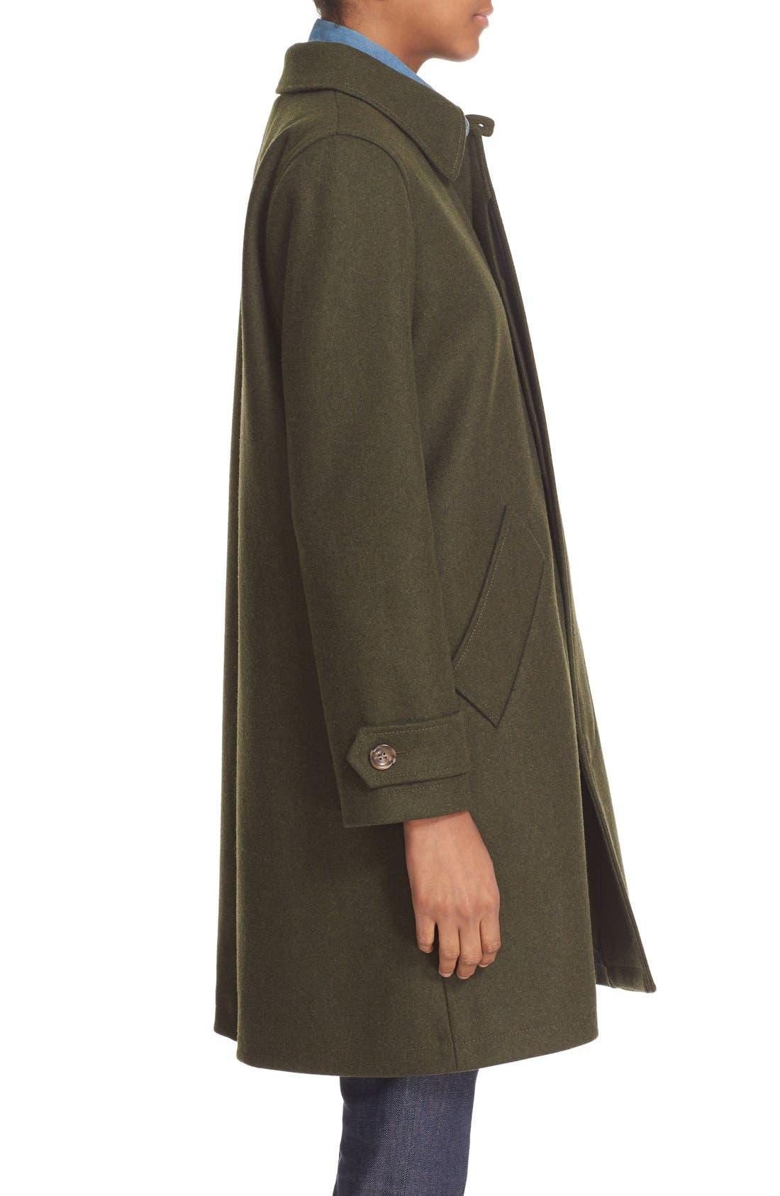 'Dinard' Wool Blend Mac Coat,                             Alternate thumbnail 5, color,                             300