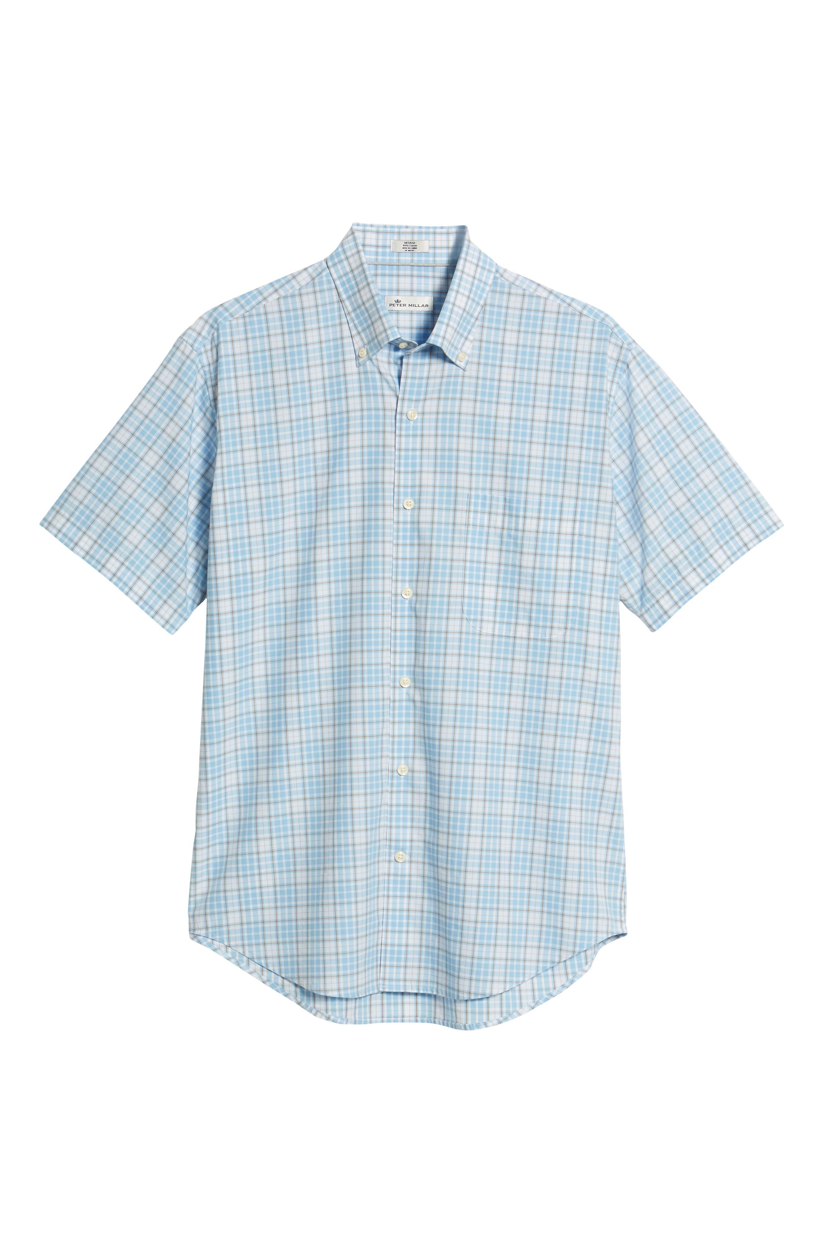 PETER MILLAR,                             Belltown Regular Fit Tartan Sport Shirt,                             Alternate thumbnail 6, color,                             400