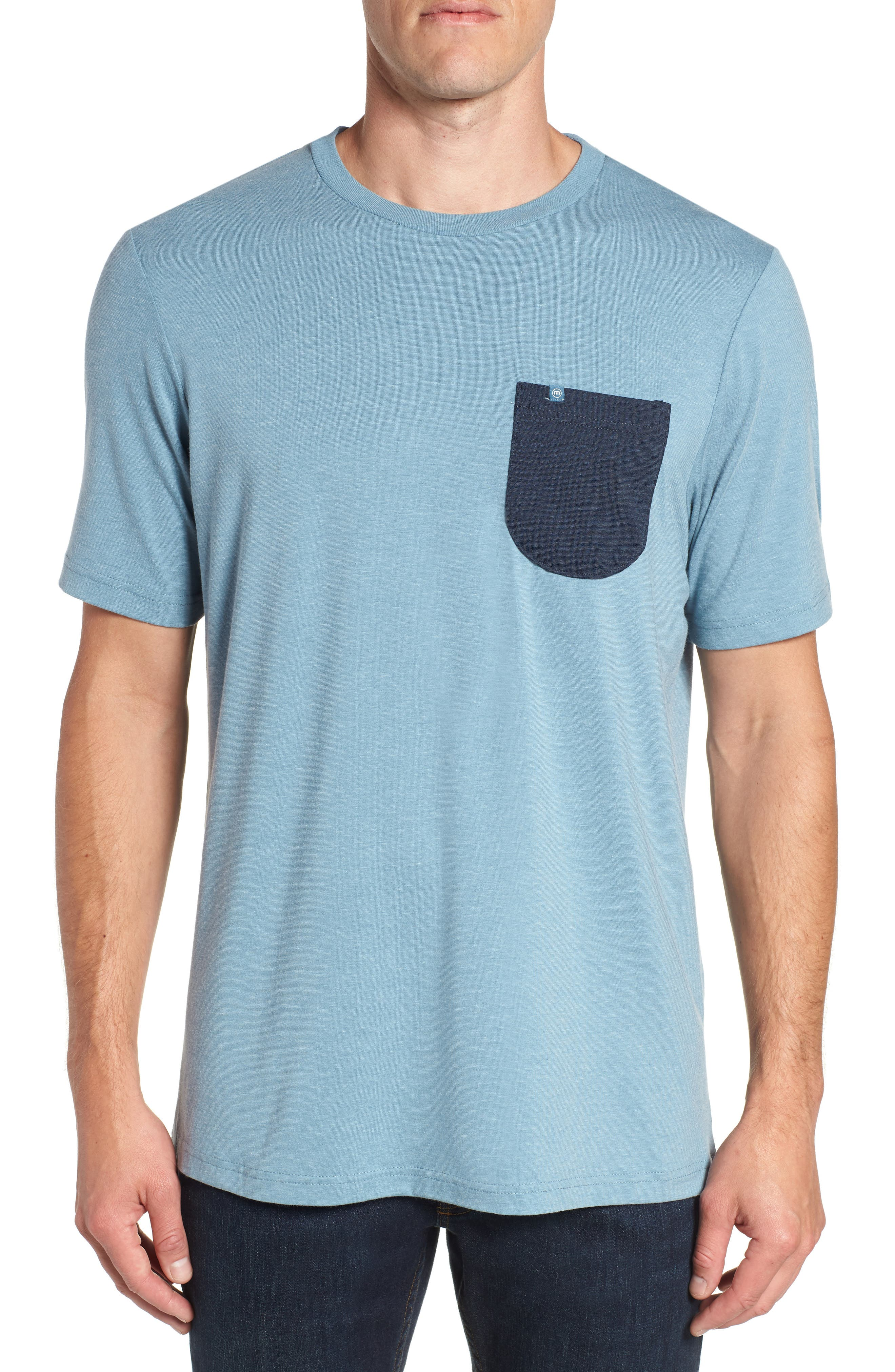 Simmer Down T-Shirt,                         Main,                         color, HEATHER BLUE STONE