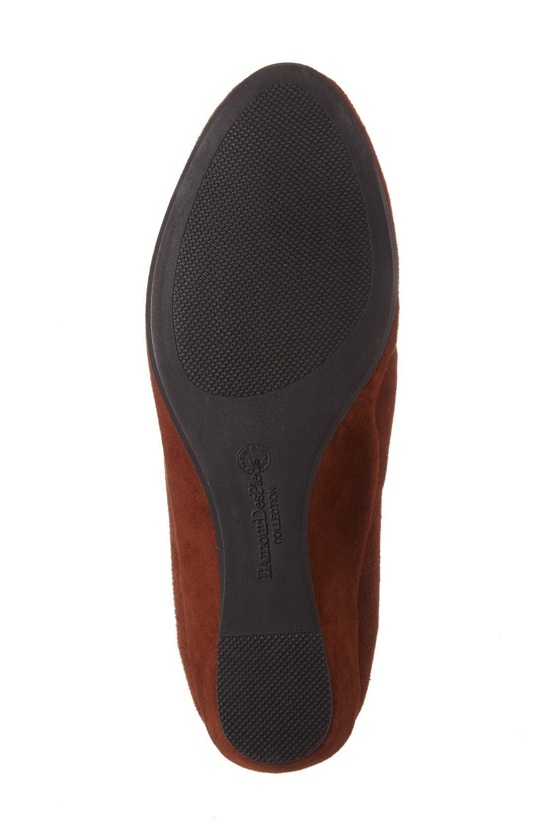 'Beziers' Slip-On,                             Alternate thumbnail 4, color,                             BRANDY SUEDE LEATHER