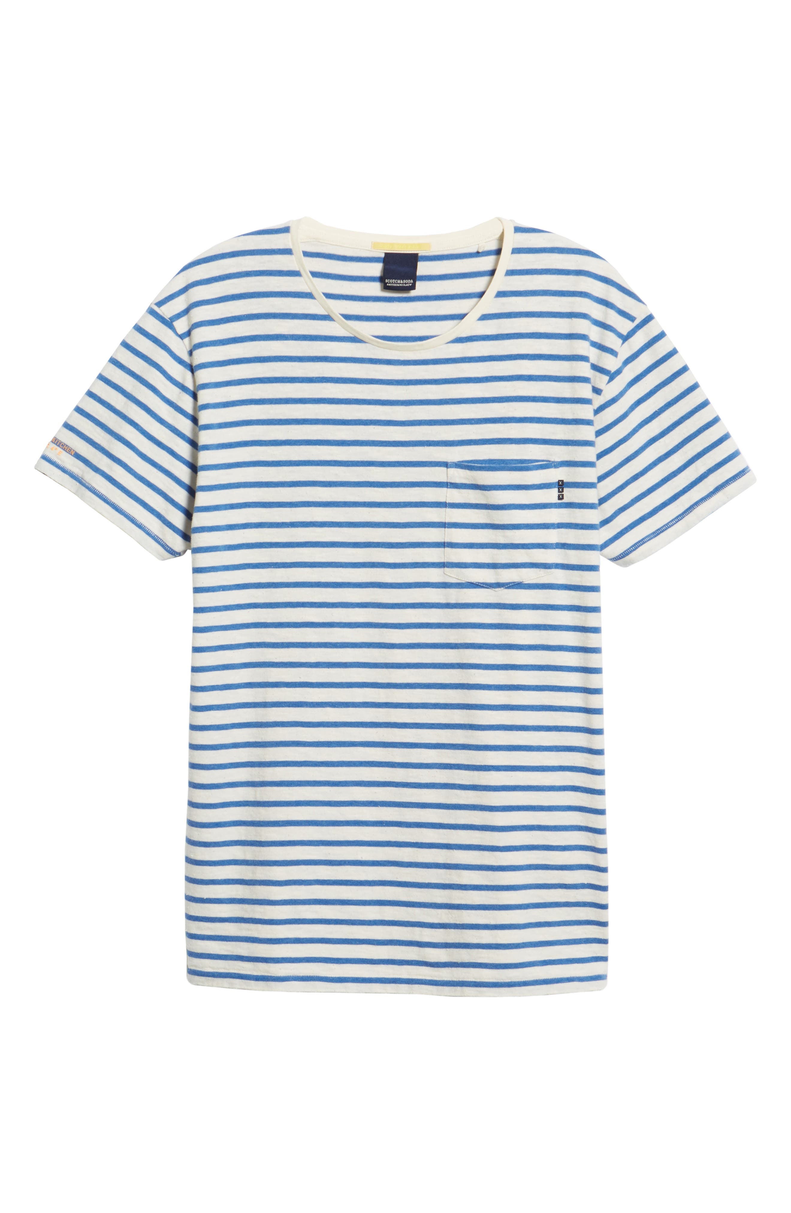 Stripe Pocket T-Shirt,                             Alternate thumbnail 6, color,                             110