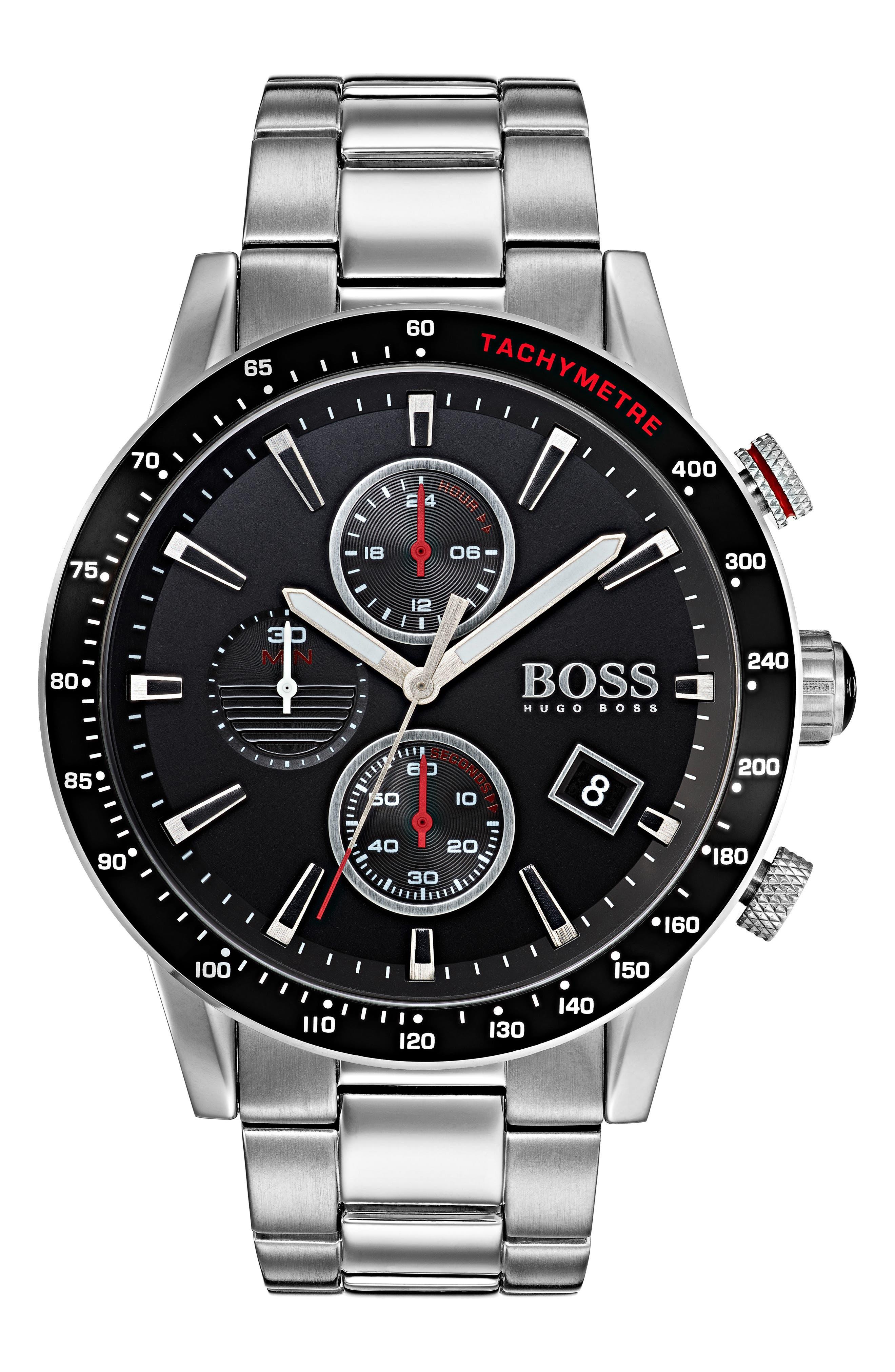 Rafale Chronograph Bracelet Watch, 45mm,                             Main thumbnail 1, color,                             001
