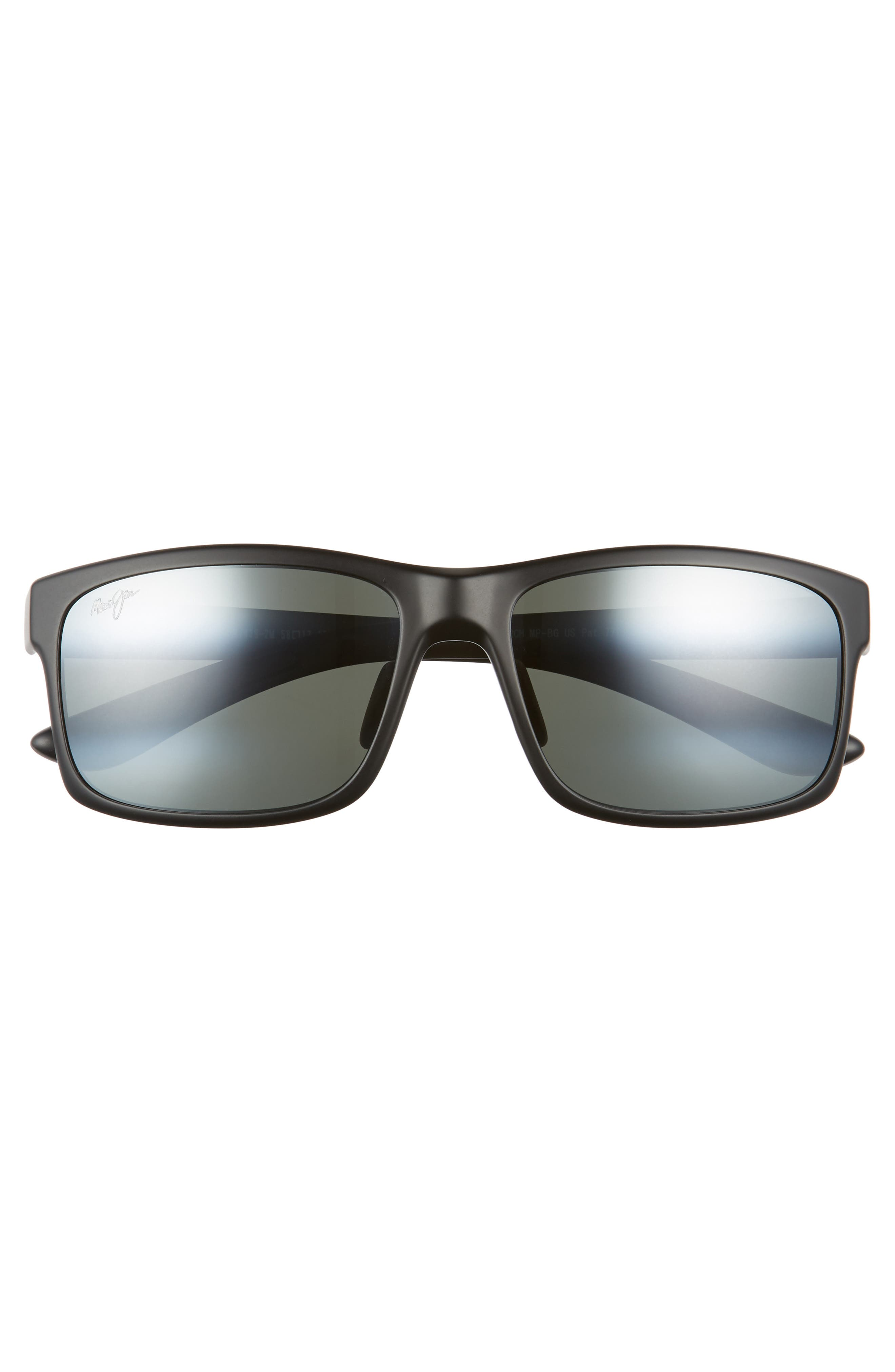 Pokowai Arch 58mm Polarized Sunglasses,                             Alternate thumbnail 2, color,                             BLACK MATTE/ NEUTRAL GREY