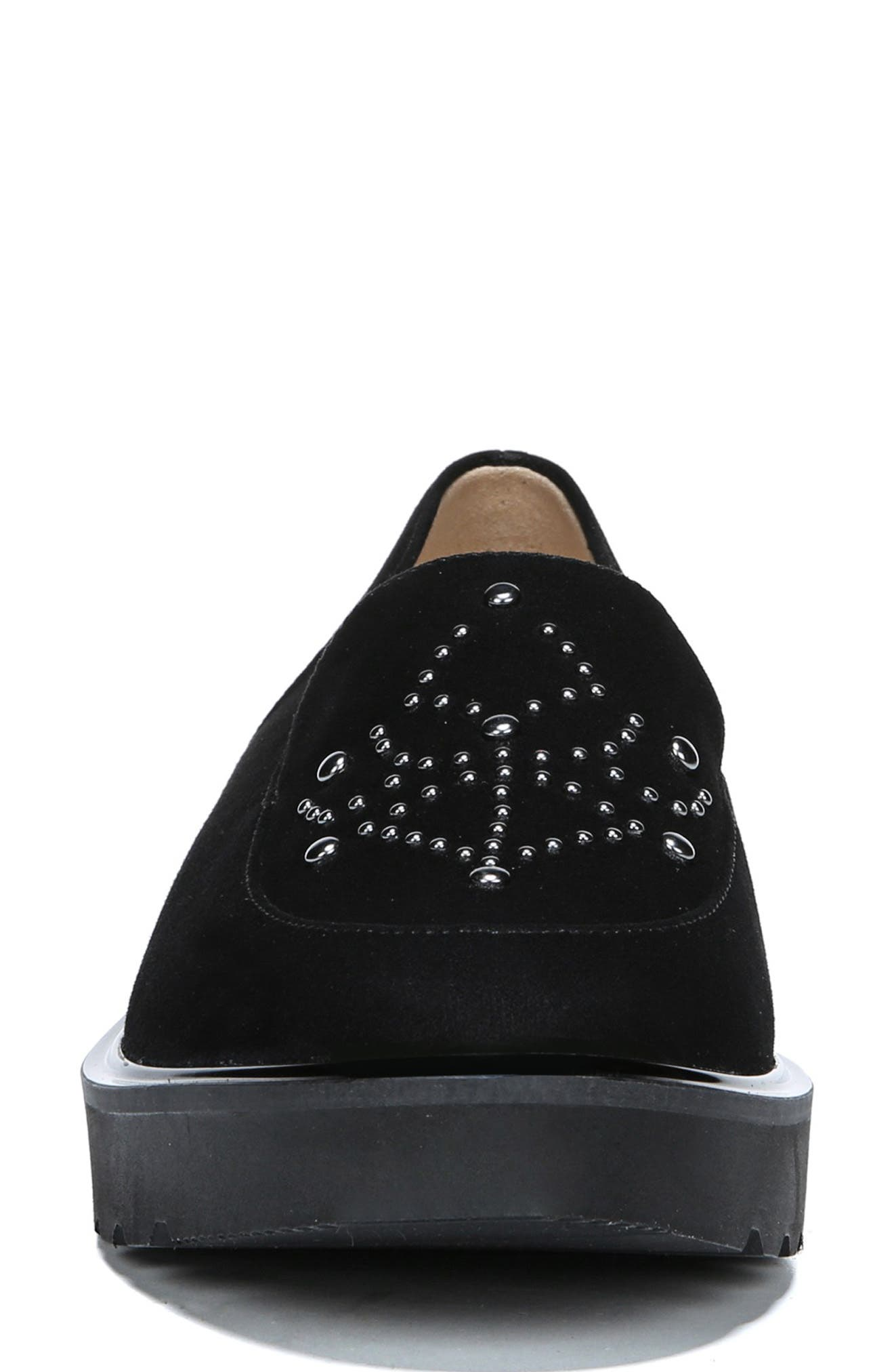 Andie Loafer,                             Alternate thumbnail 3, color,                             BLACK SUEDE