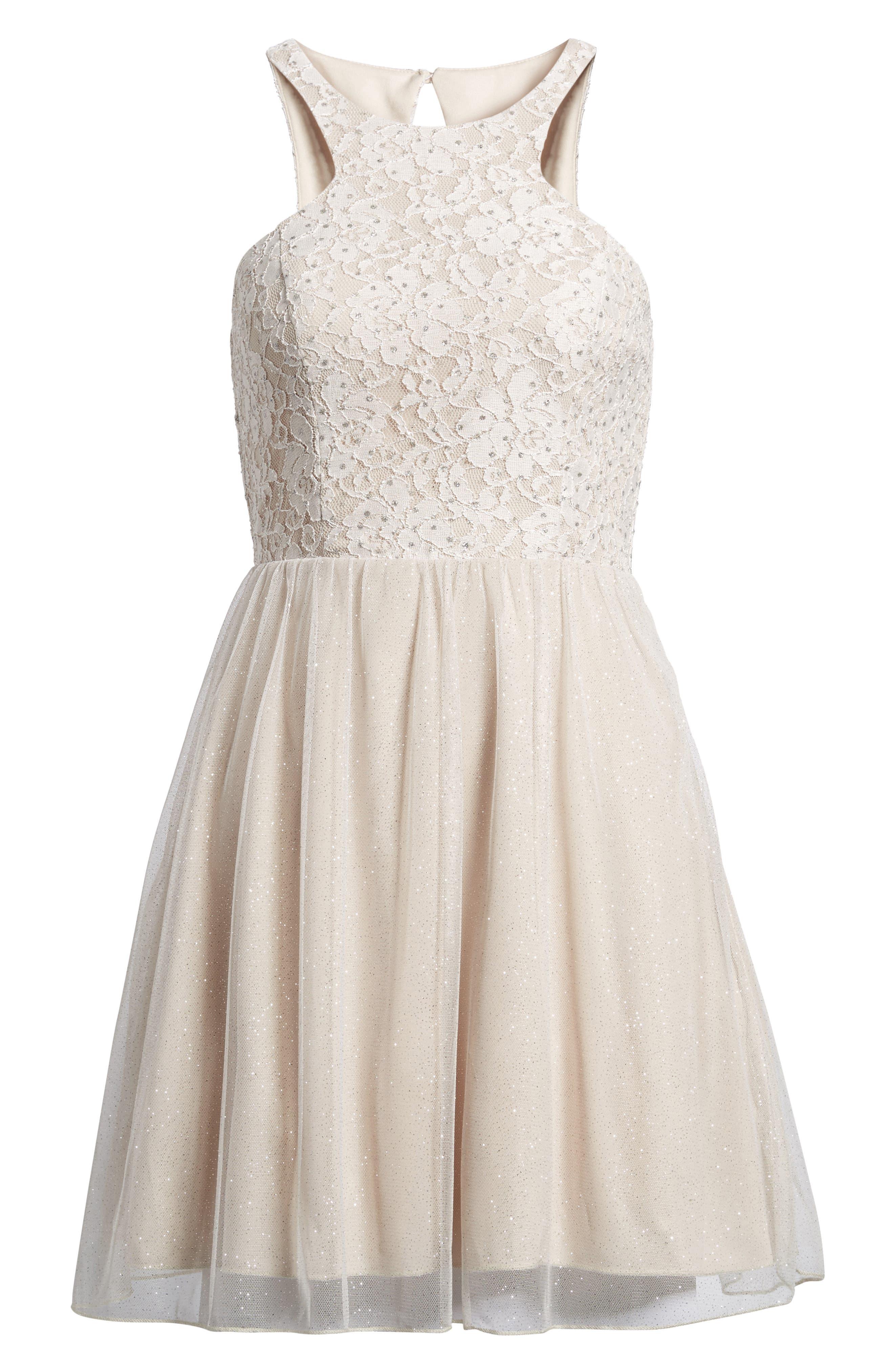 Glitter Tulle Dress,                             Alternate thumbnail 7, color,                             681