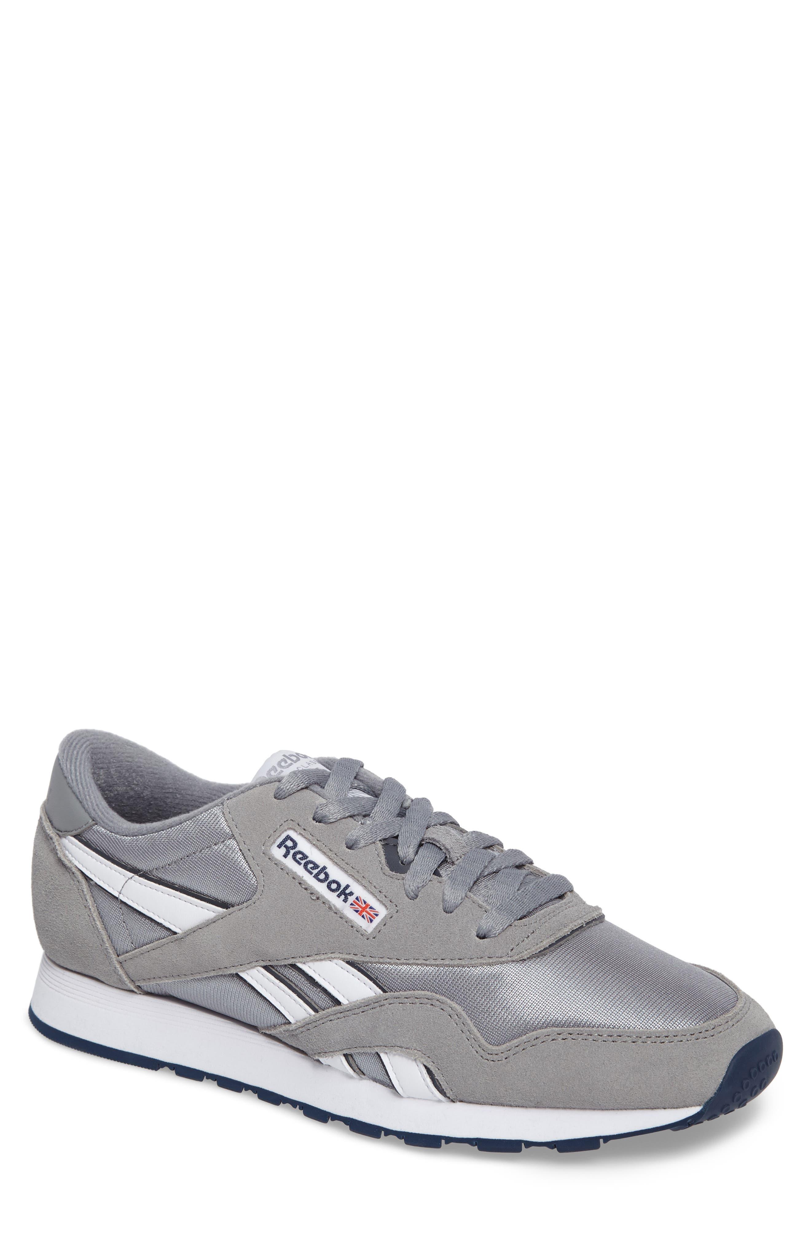 Classic Nylon Sneaker,                             Main thumbnail 1, color,                             PLATINUM/ JET BLUE