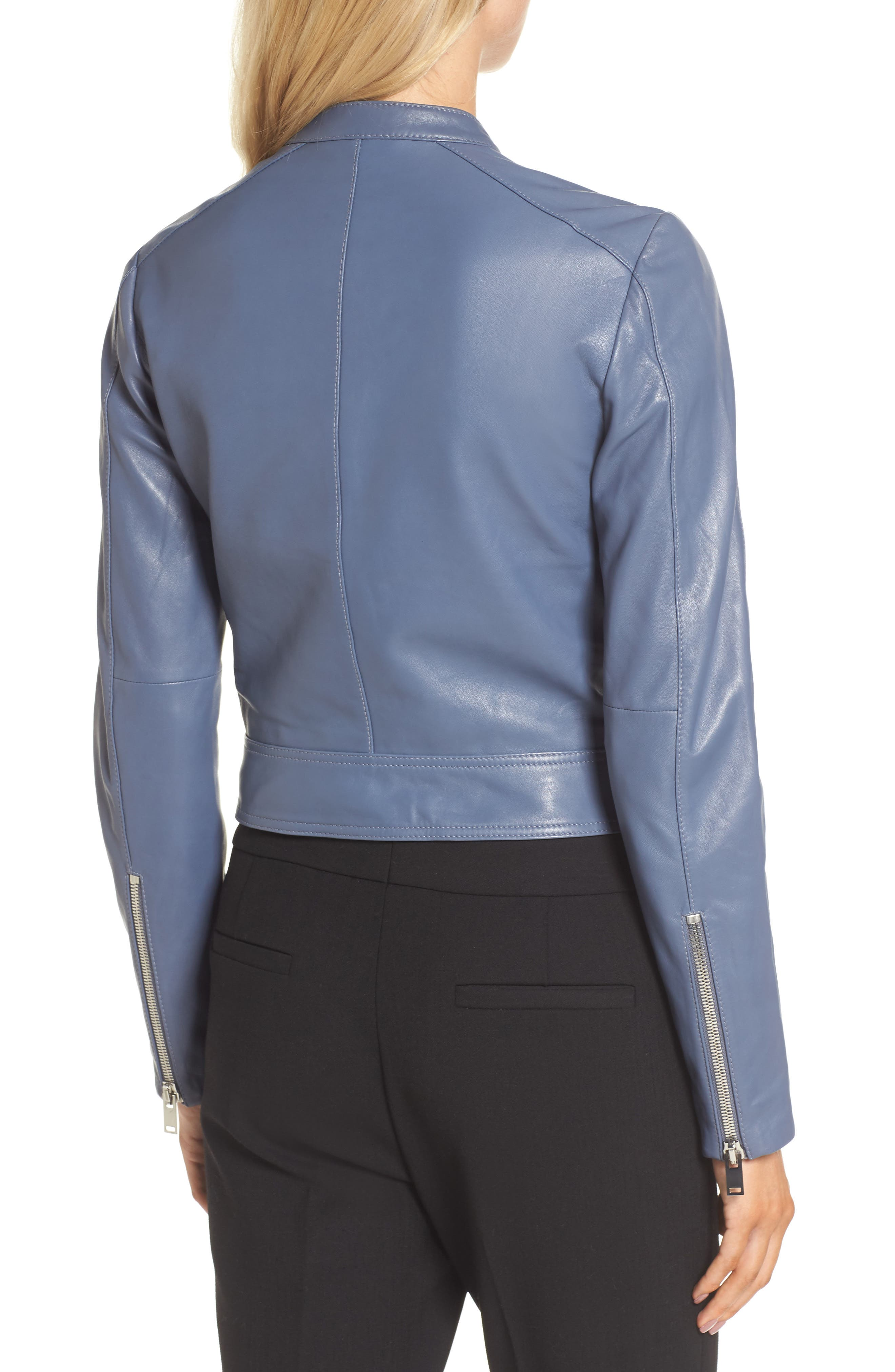 Leather Jacket,                             Alternate thumbnail 2, color,                             030