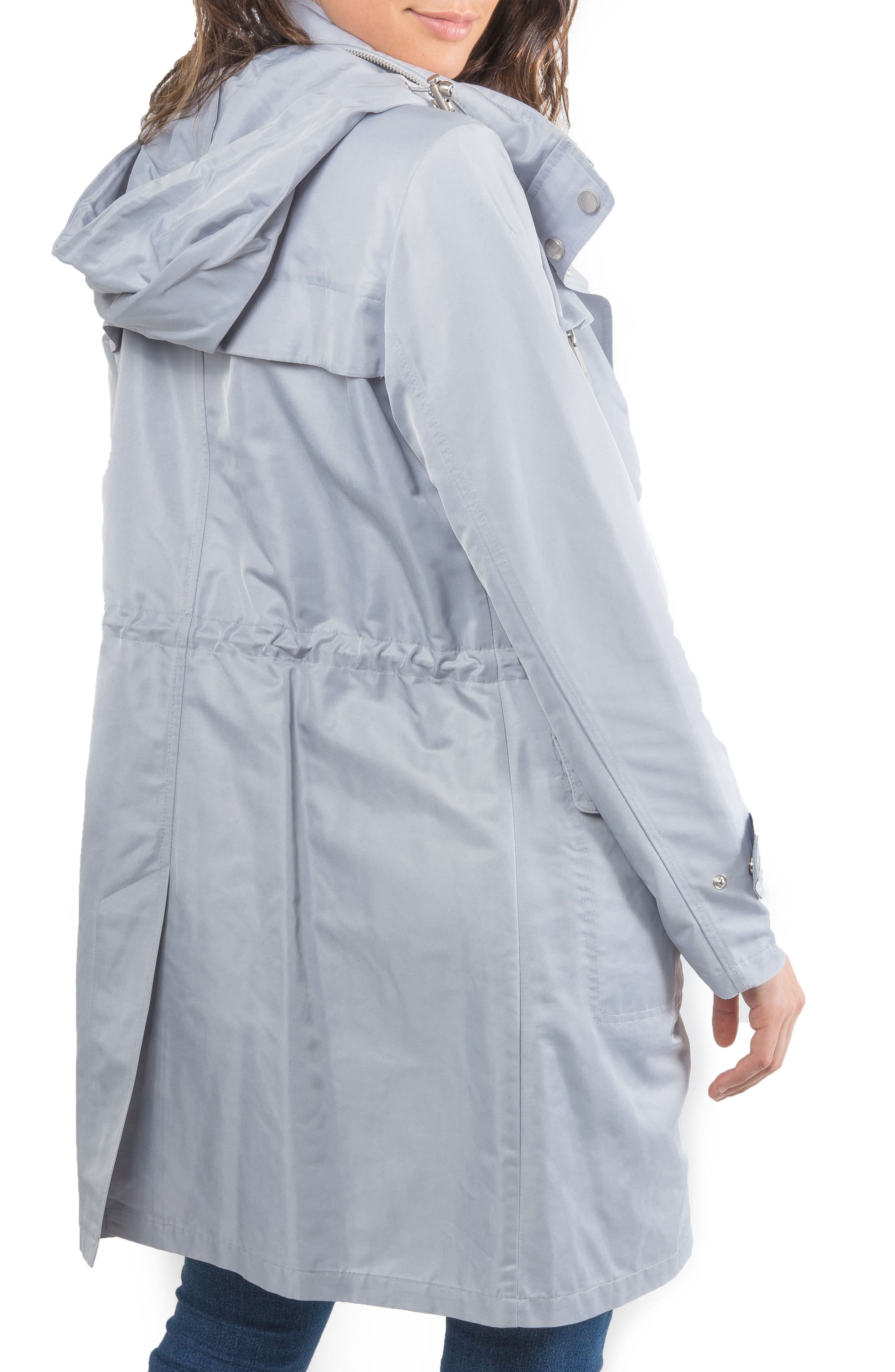 Badgley Mischka Ruched Water Repellent Anorak,                             Alternate thumbnail 2, color,                             457