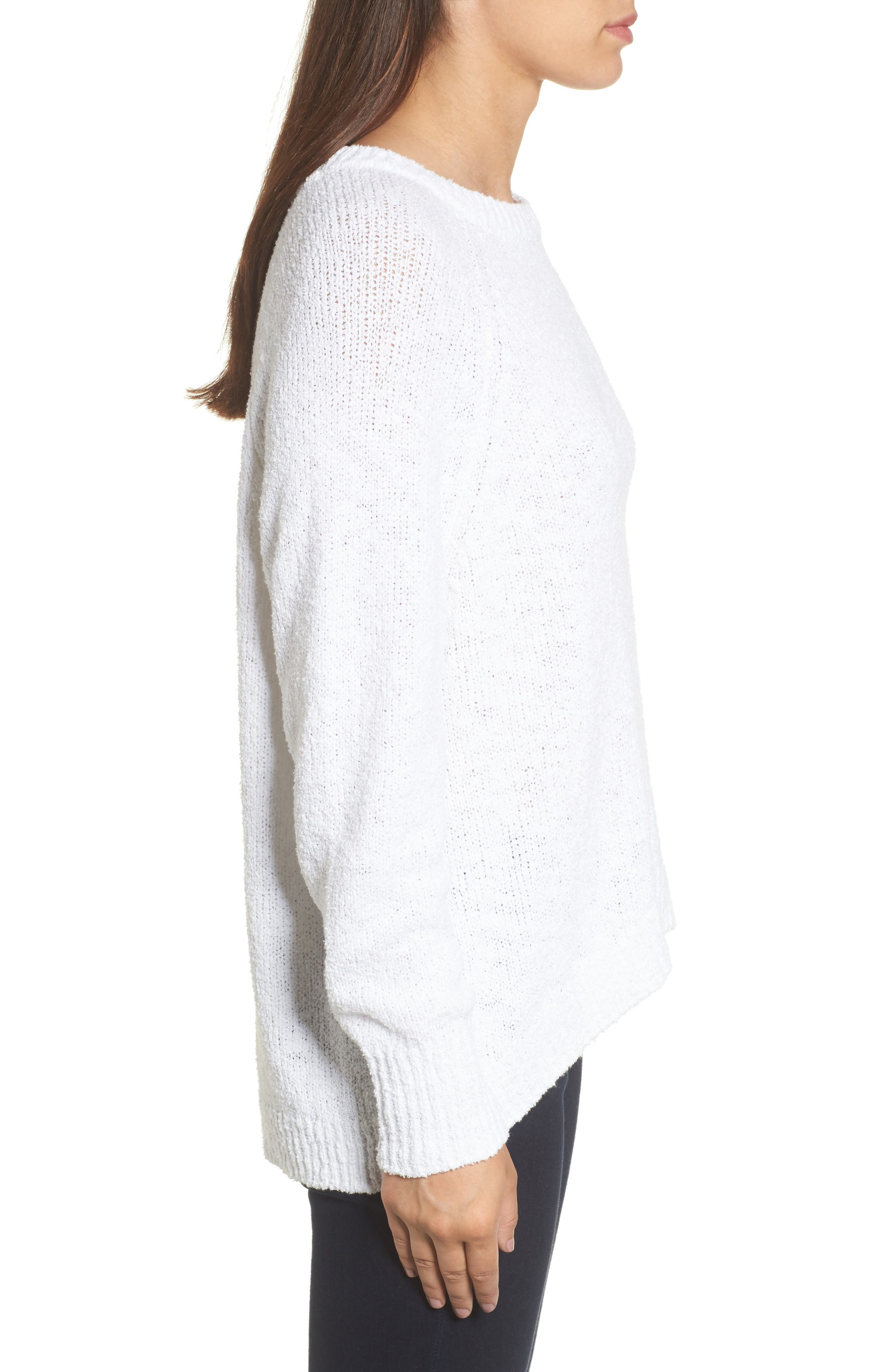 Relaxed Crewneck Sweater,                             Alternate thumbnail 3, color,                             100