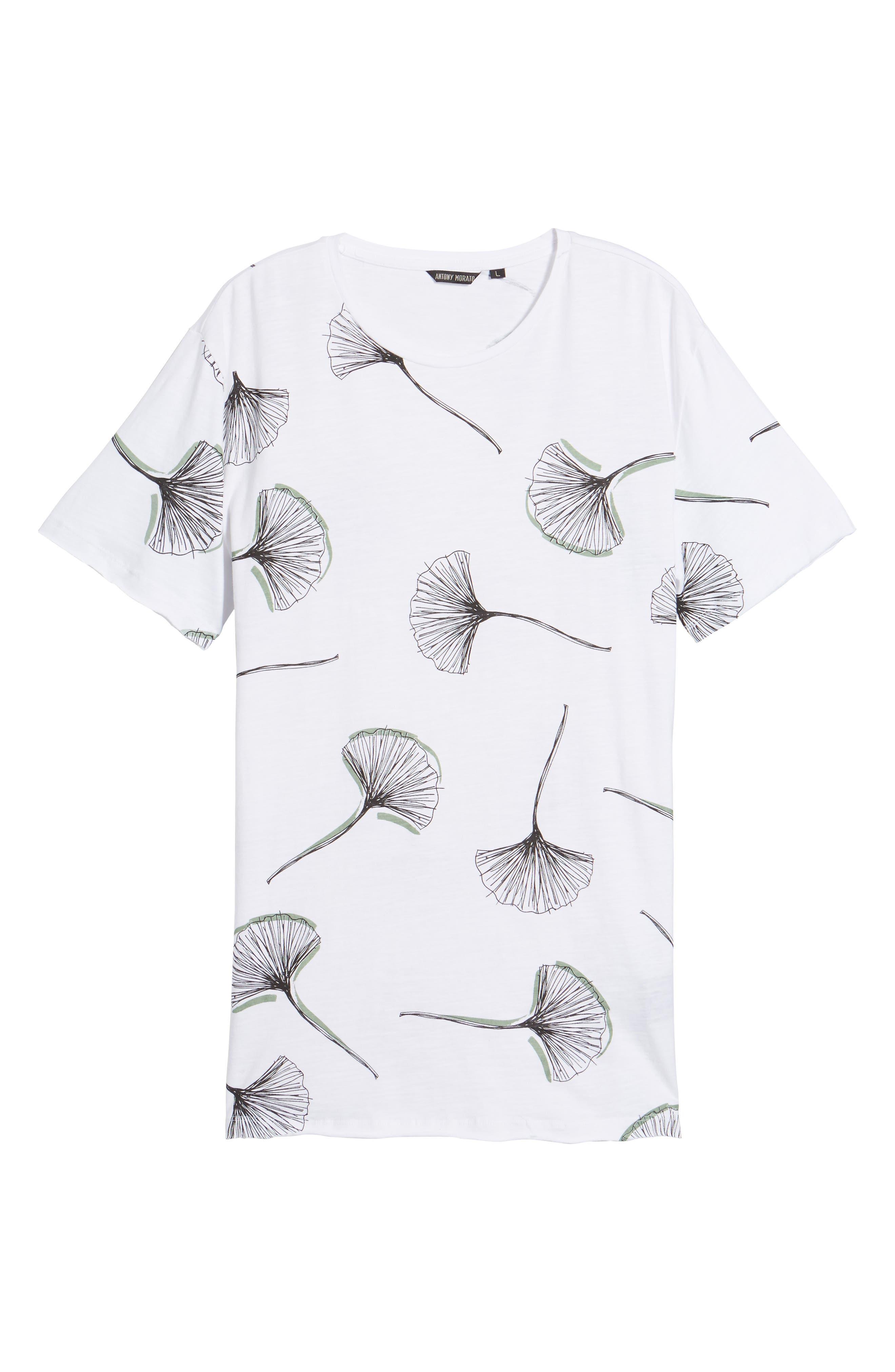 Allover Print T-Shirt,                             Alternate thumbnail 6, color,                             100