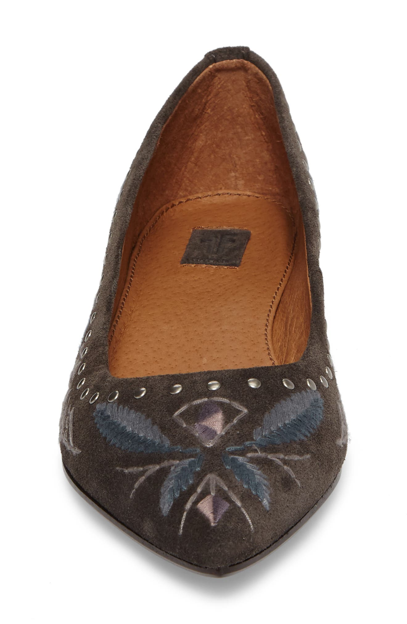 Sienna Embroidered Ballet Flat,                             Alternate thumbnail 4, color,                             030