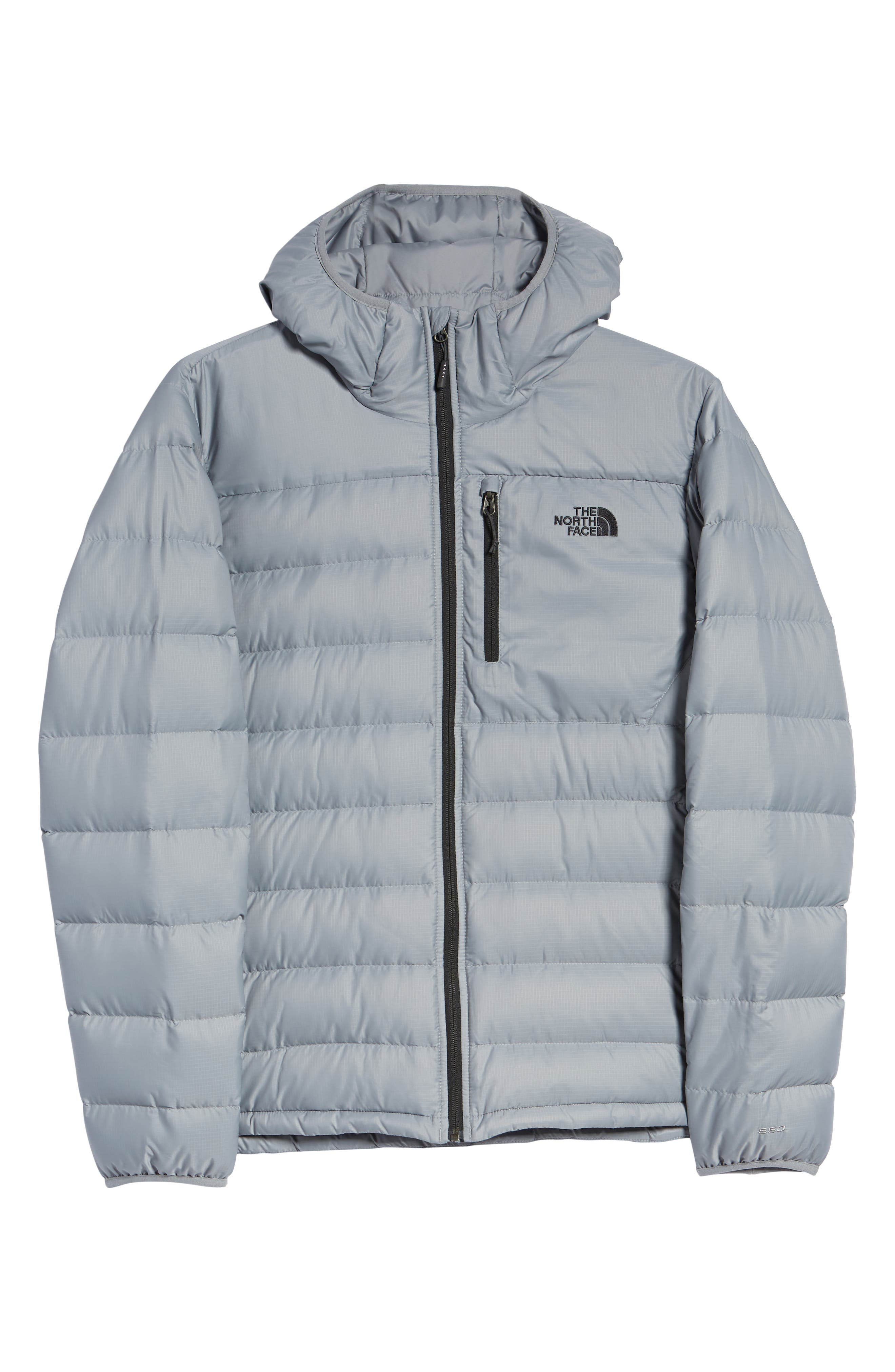 Aconcagua Down Hooded Jacket,                             Alternate thumbnail 6, color,                             MID GREY