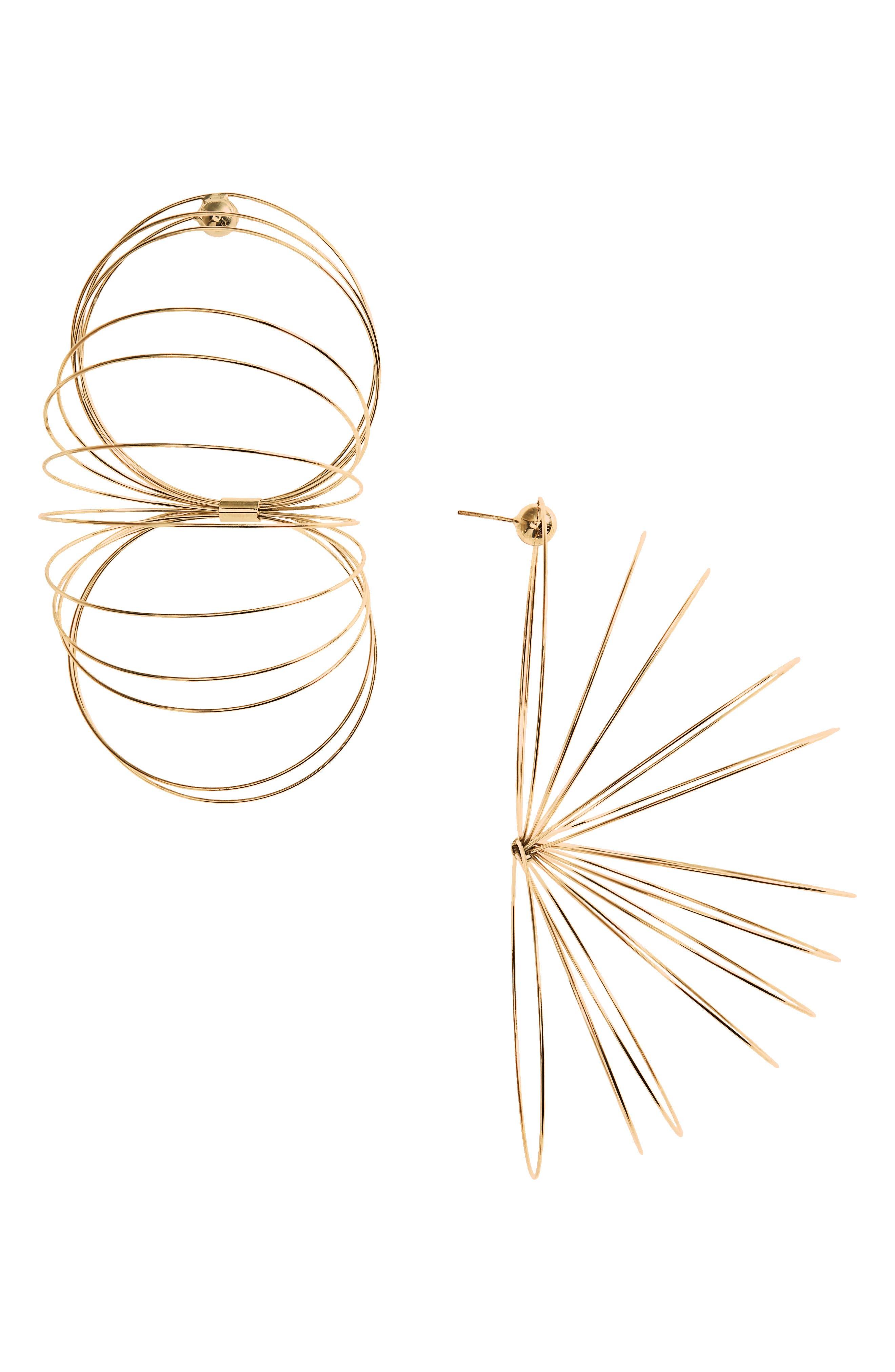 Slinky Earrings,                         Main,                         color, GOLD