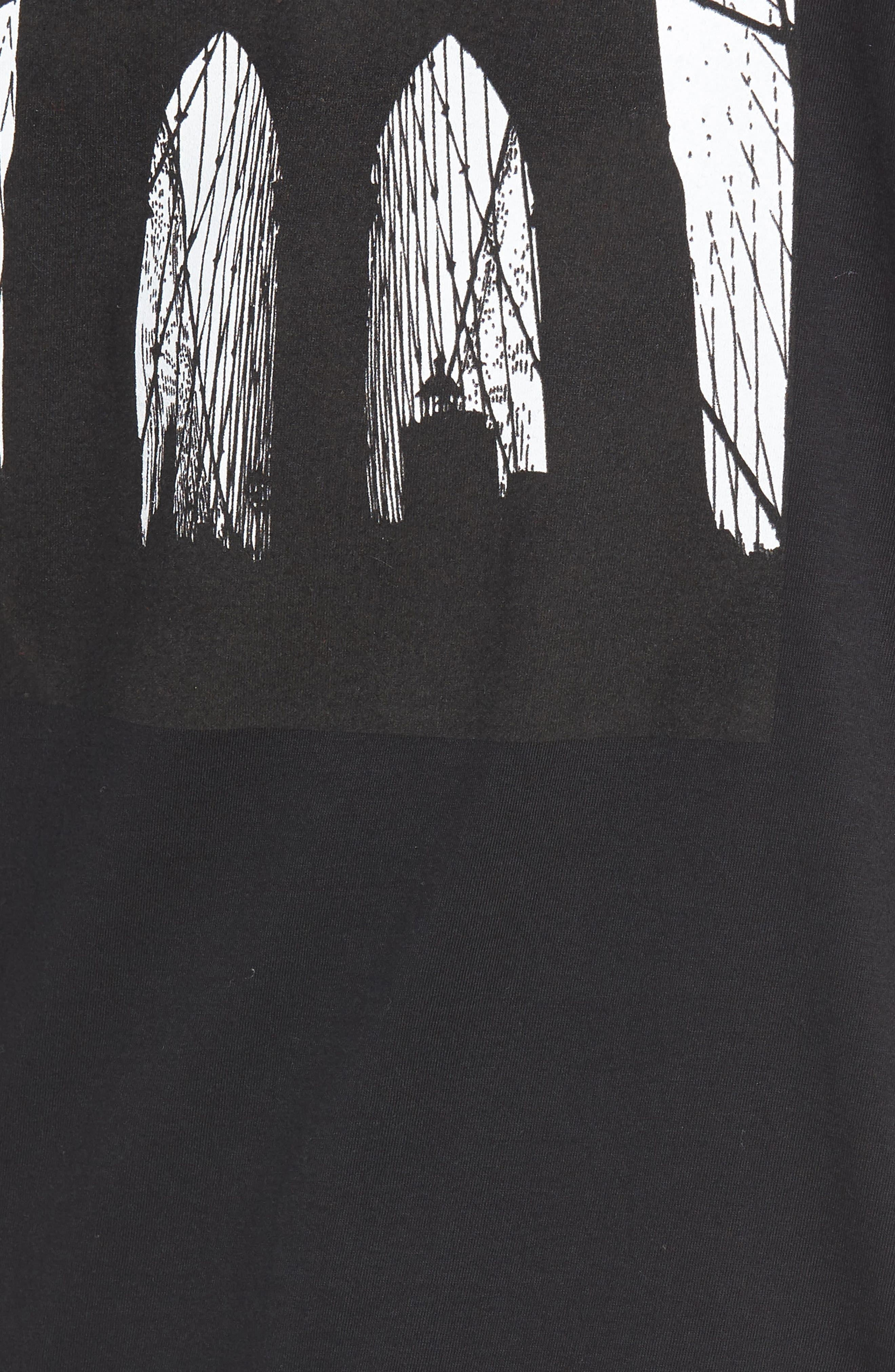 Brooklyn Bridge Graphic T-Shirt,                             Alternate thumbnail 9, color,