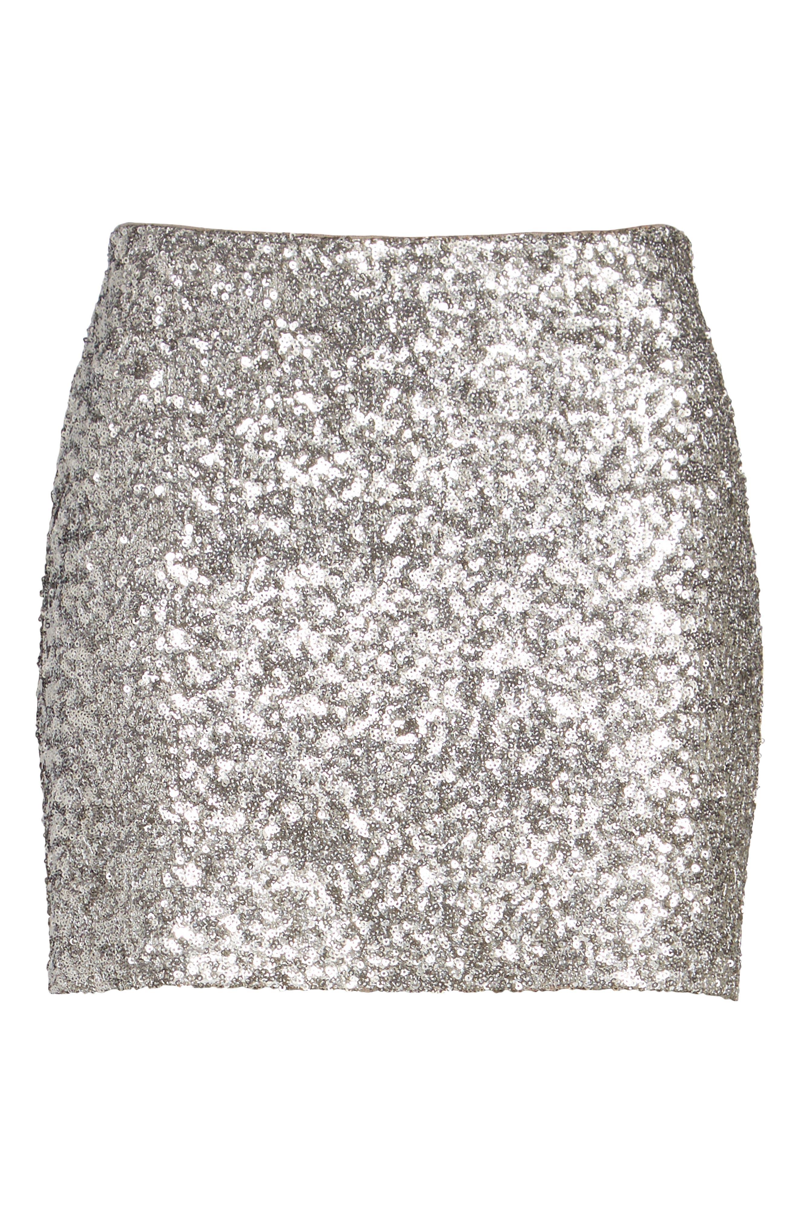 Scene Stealing Miniskirt,                             Alternate thumbnail 6, color,                             090