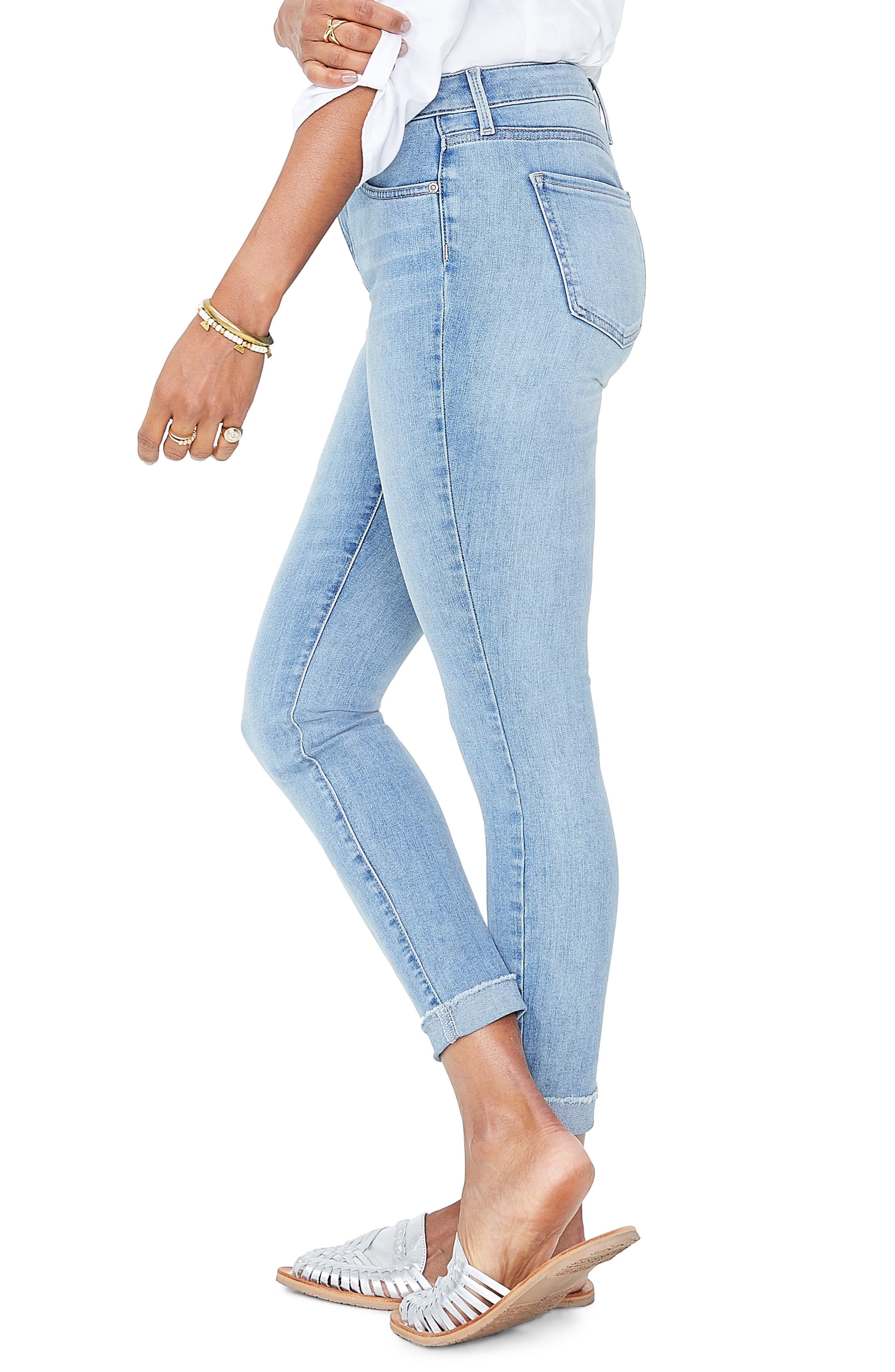 Ami Cuffed Ankle Skinny Jeans,                             Alternate thumbnail 3, color,                             DREAMSTATE