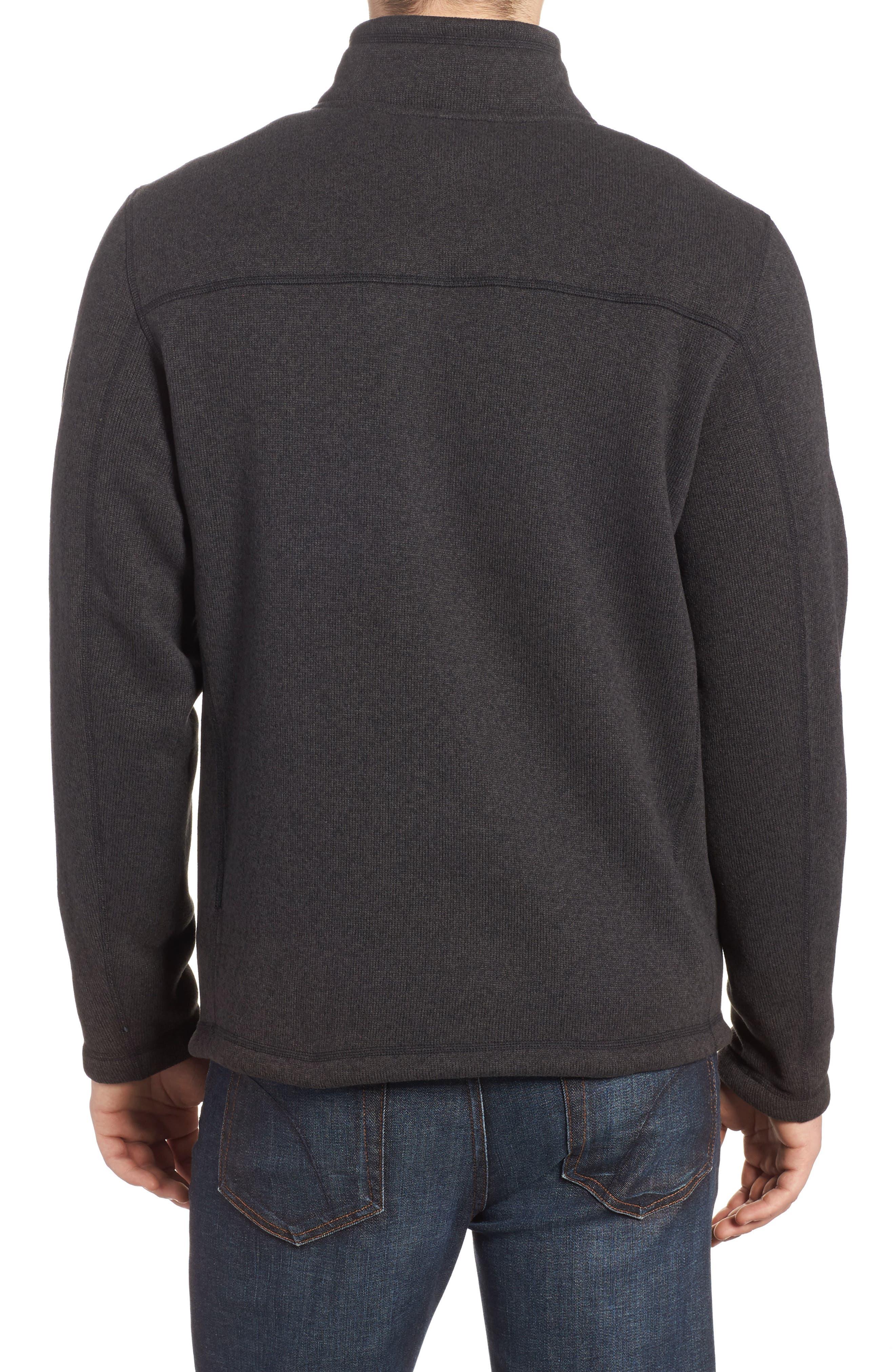 Gordon Lyons Quarter-Zip Fleece Jacket,                             Alternate thumbnail 2, color,                             BLACK HEATHER