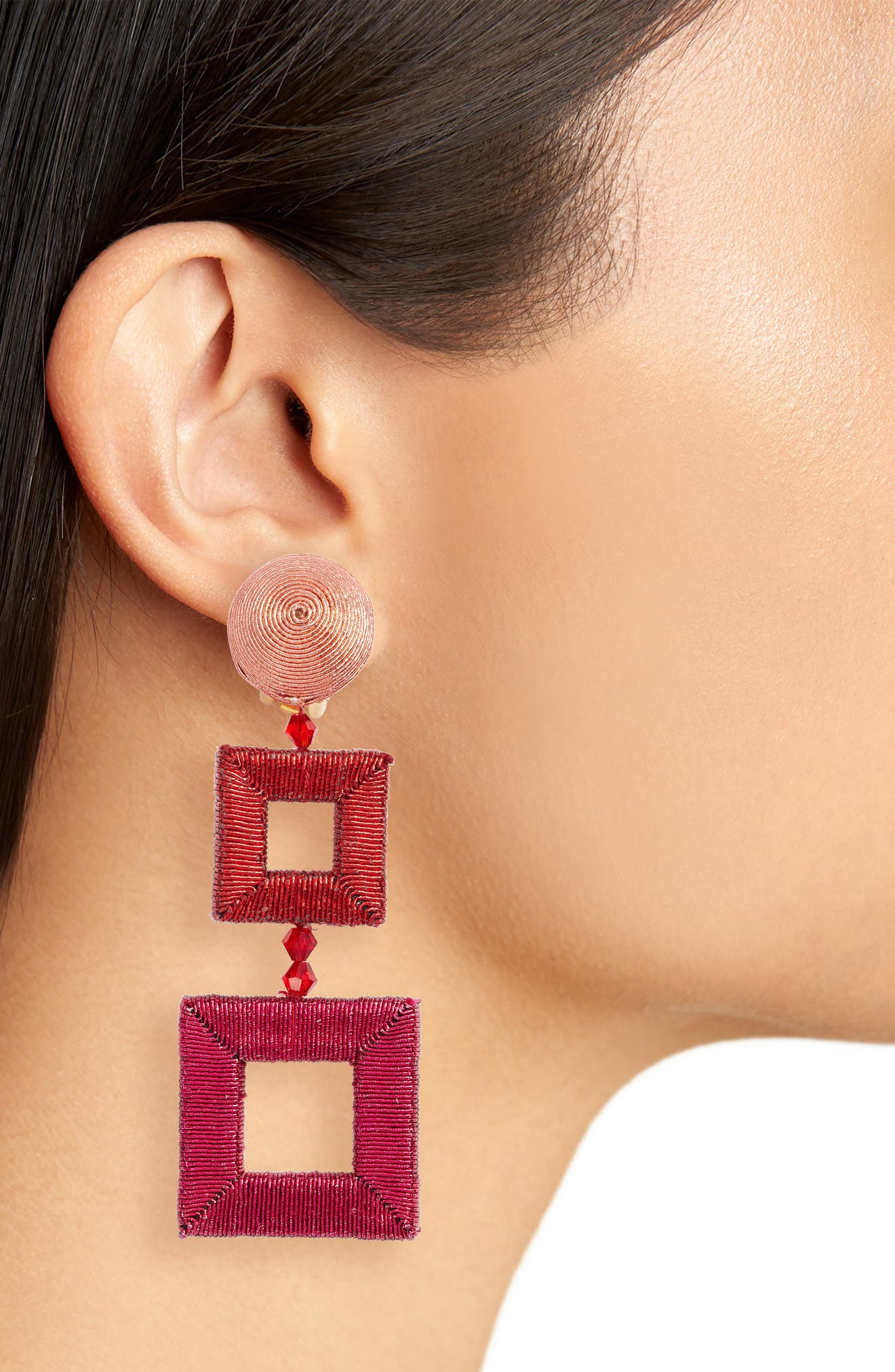 Wrapped Double Drop Earrings,                             Alternate thumbnail 2, color,                             680