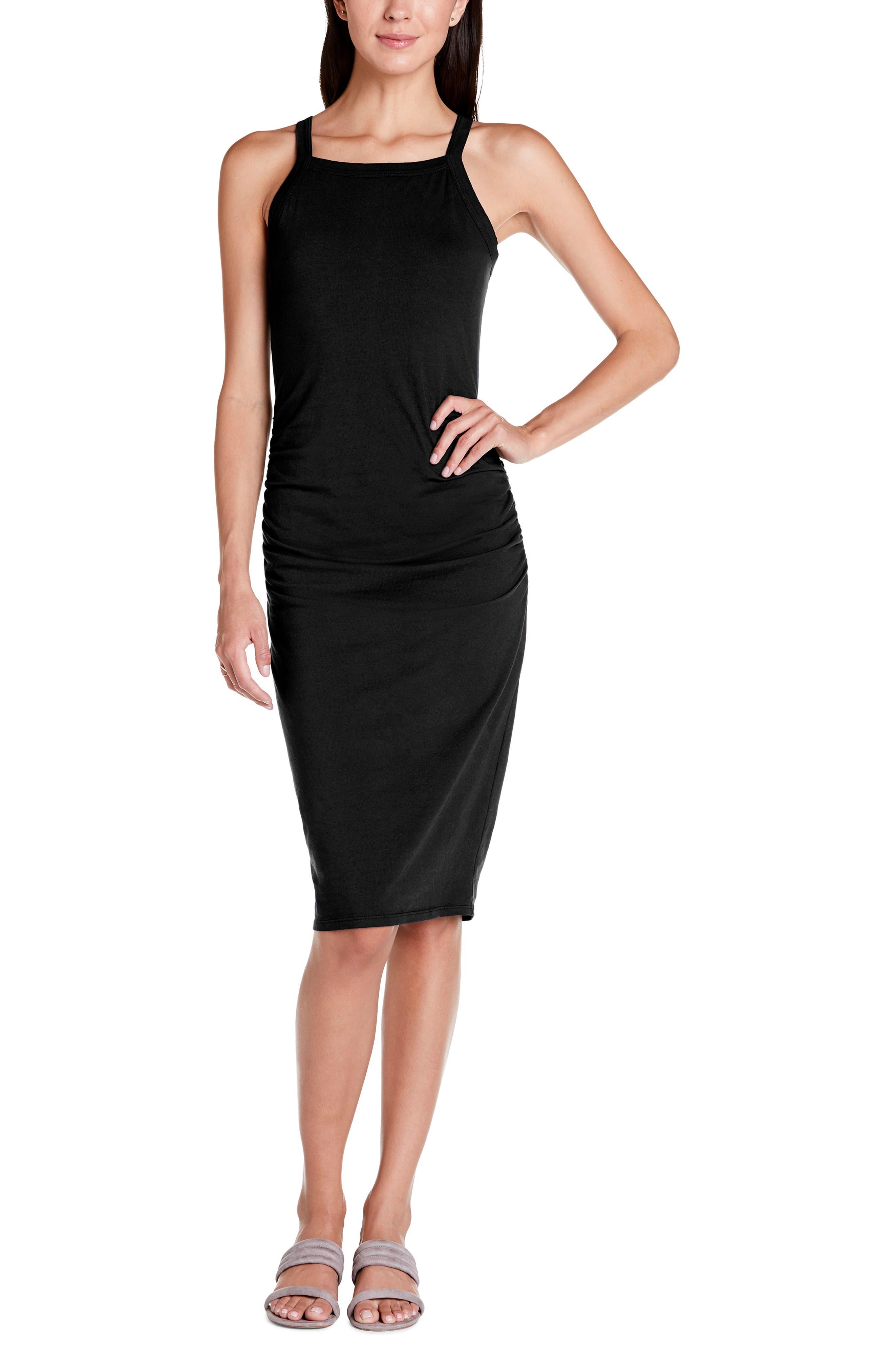 Michael Stars Rae Tank Dress, Black