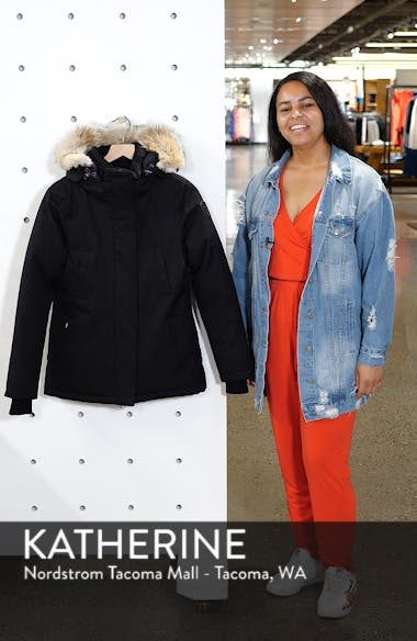 Lindsay Hooded Down Parka with Genuine Coyote Fur Trim, sales video thumbnail