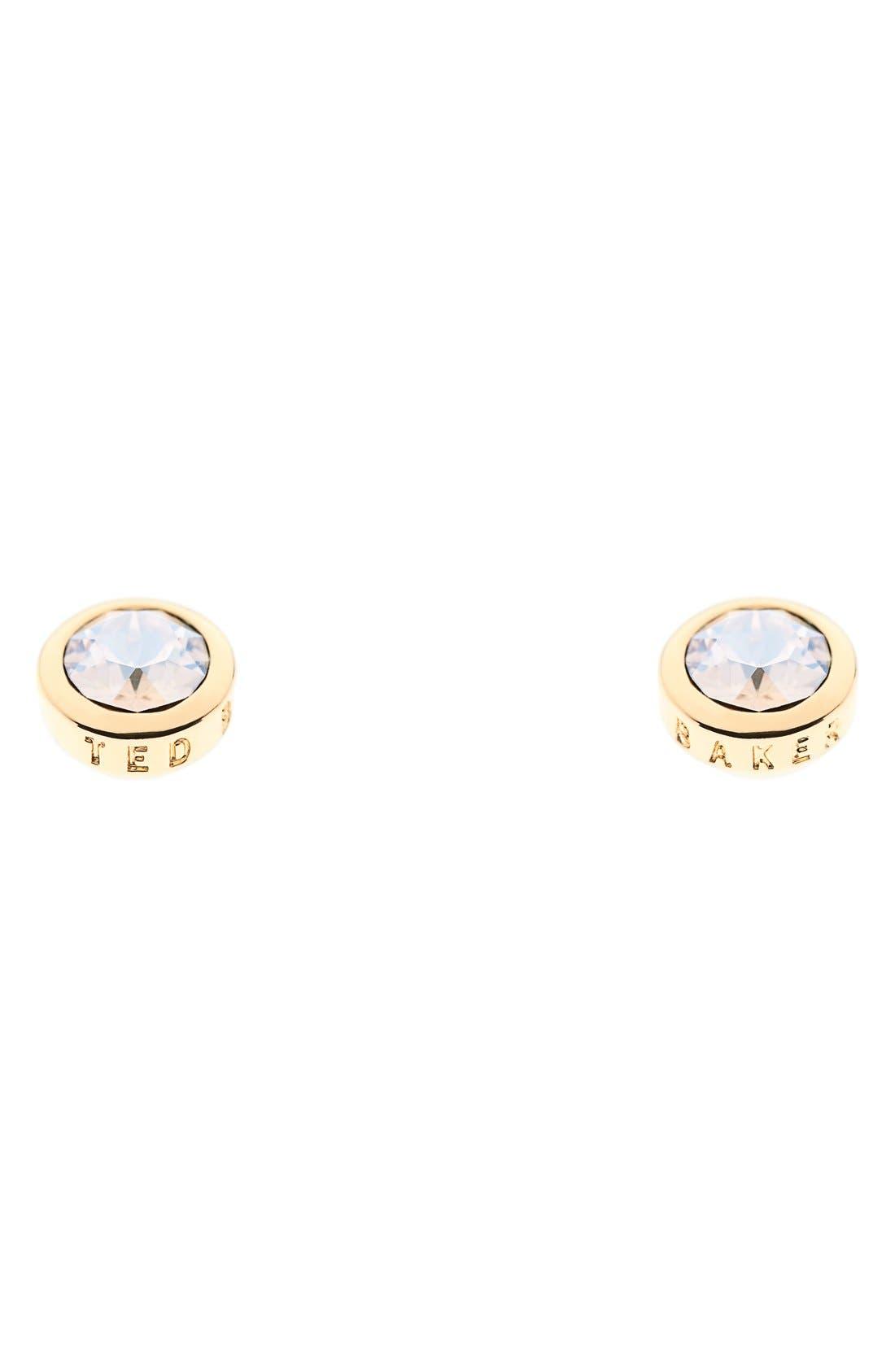 'Sinaa' Crystal Stud Earrings,                             Main thumbnail 1, color,                             710