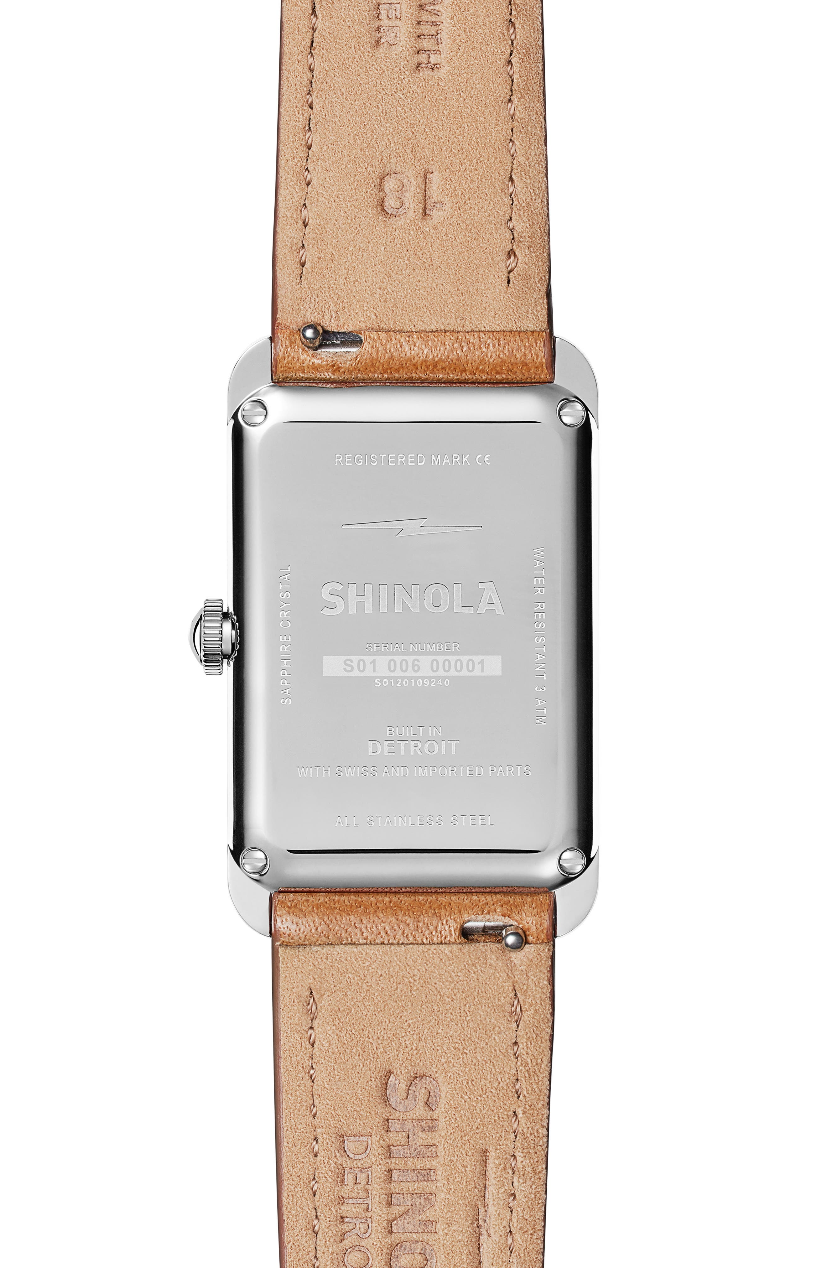 The Muldowney Rectangular Leather Strap Watch, 24mm x 32mm,                             Alternate thumbnail 7, color,