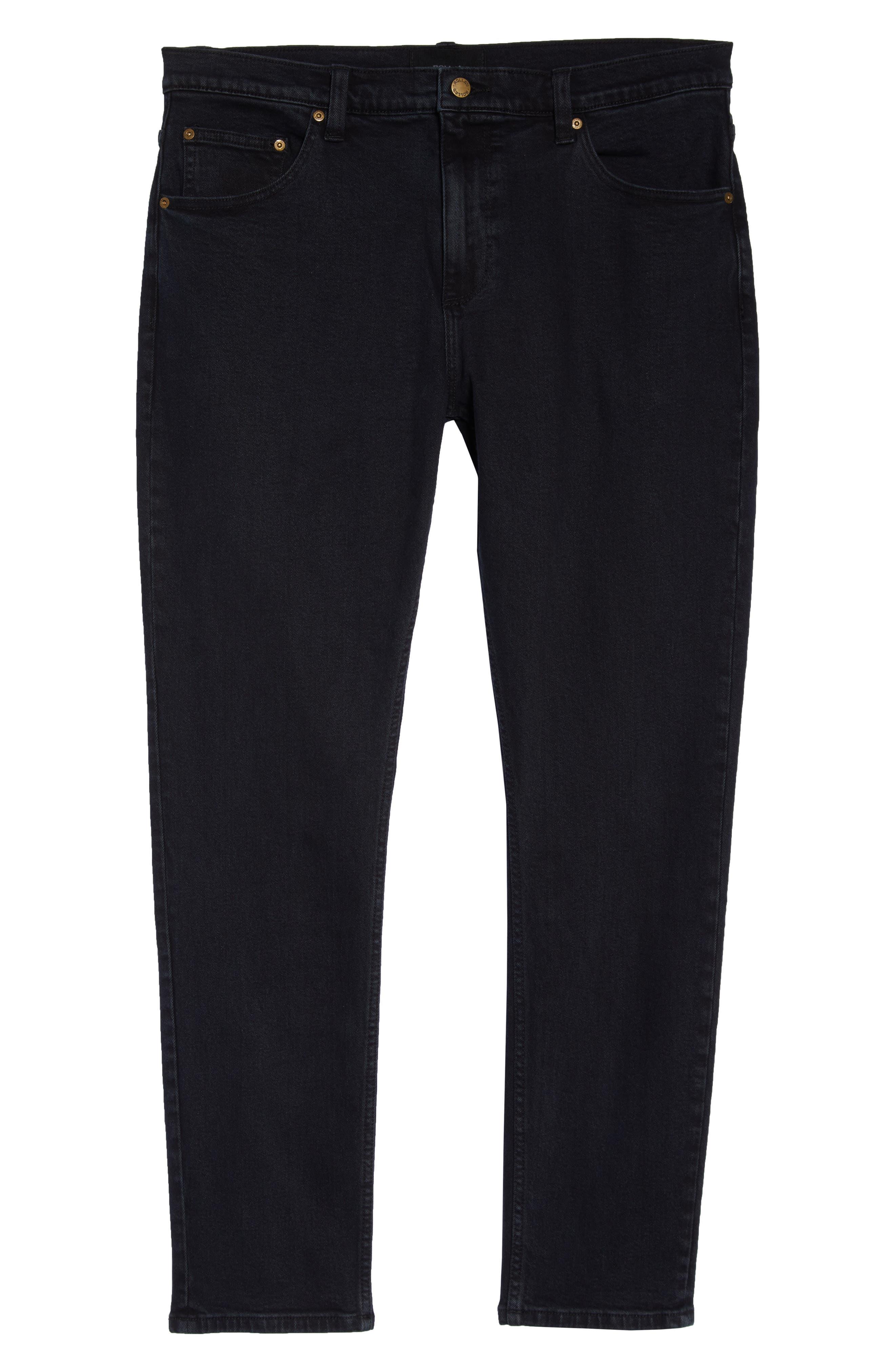 ROLLA'S,                             Thin Captain Slim Fit Jeans,                             Alternate thumbnail 4, color,                             BON BLACK