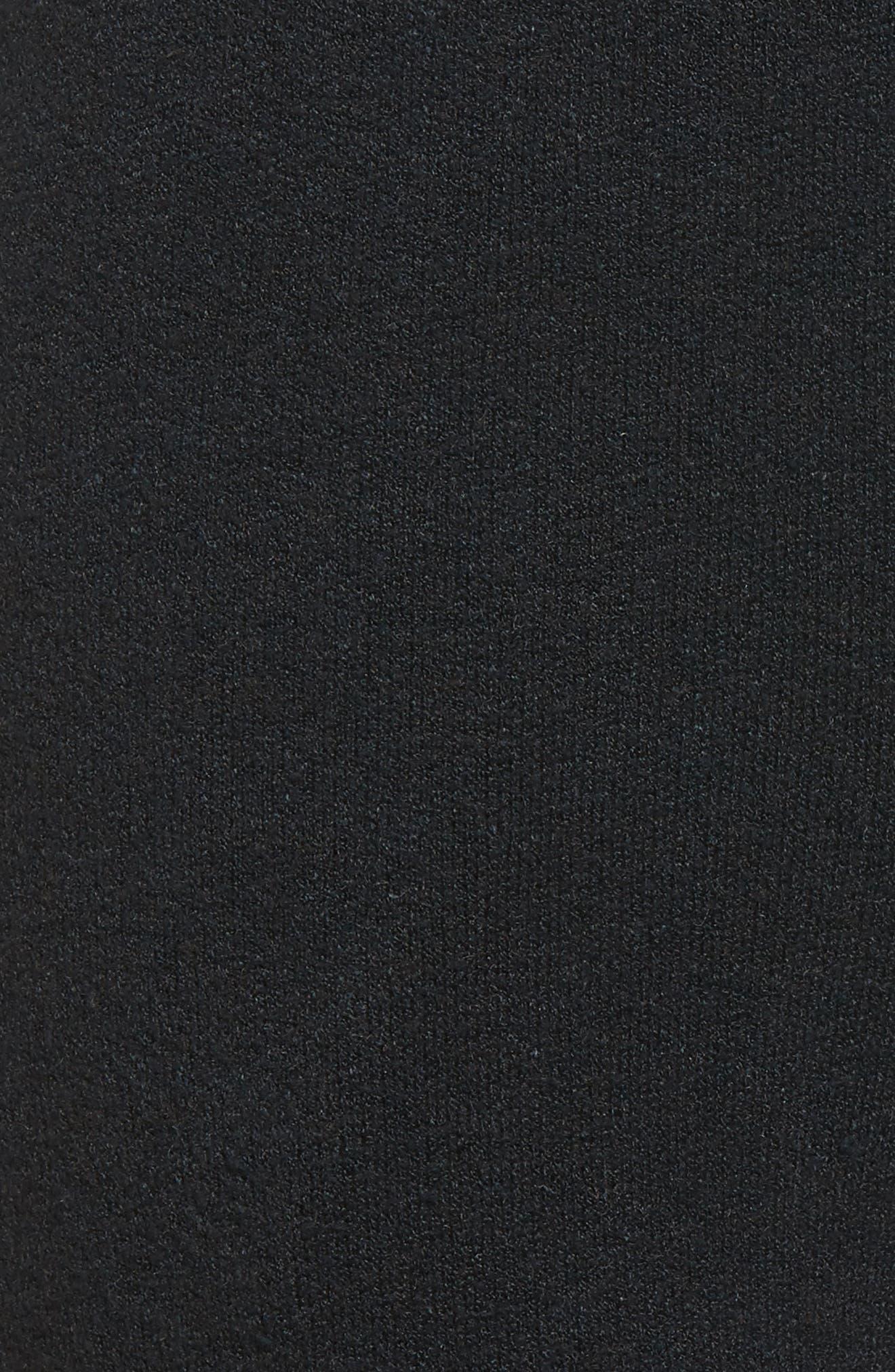 Flint Fleece Crop Jogger Pants,                             Alternate thumbnail 5, color,                             001
