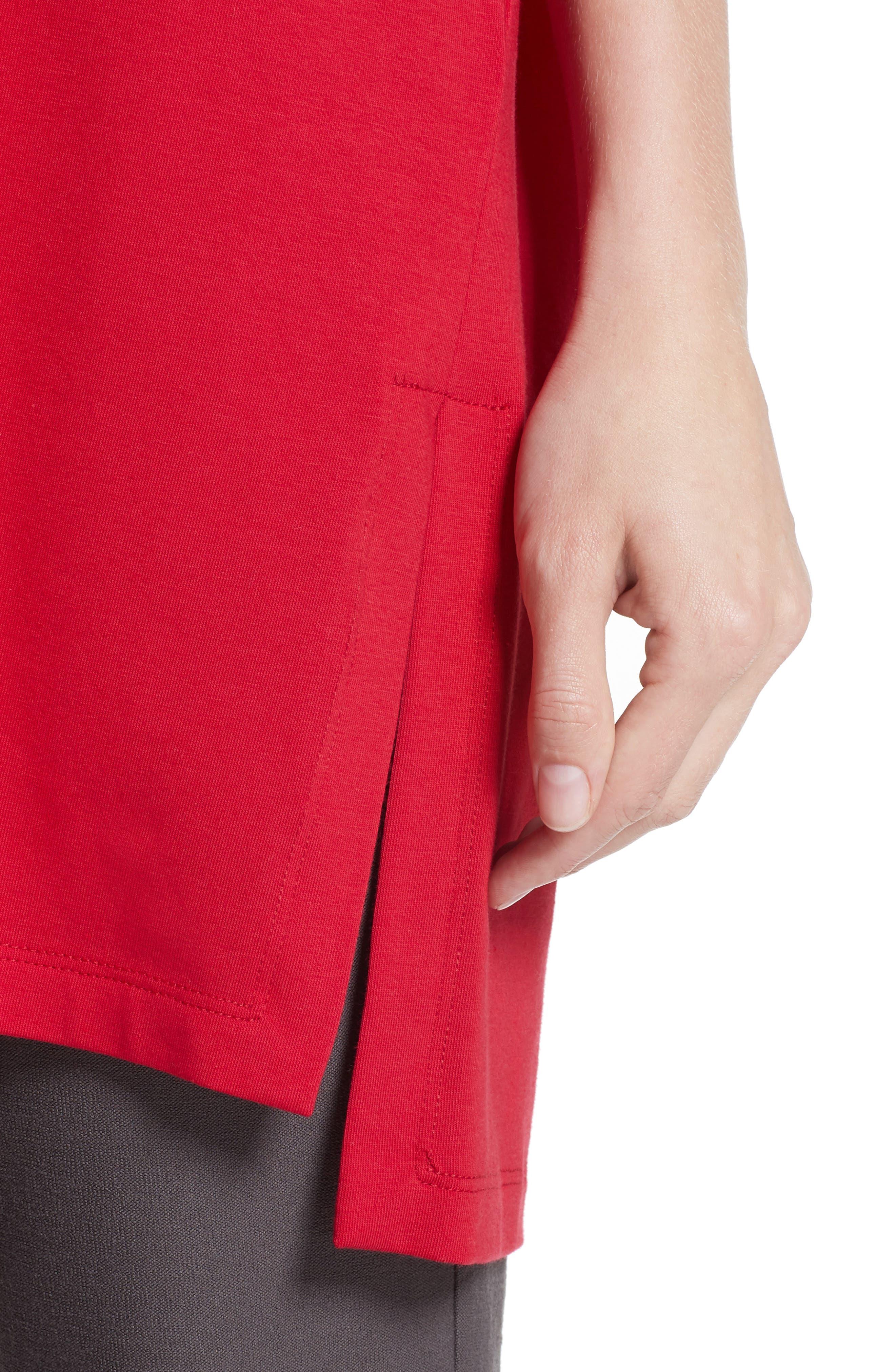 Stretch Organic Cotton Jersey Tunic,                             Alternate thumbnail 22, color,