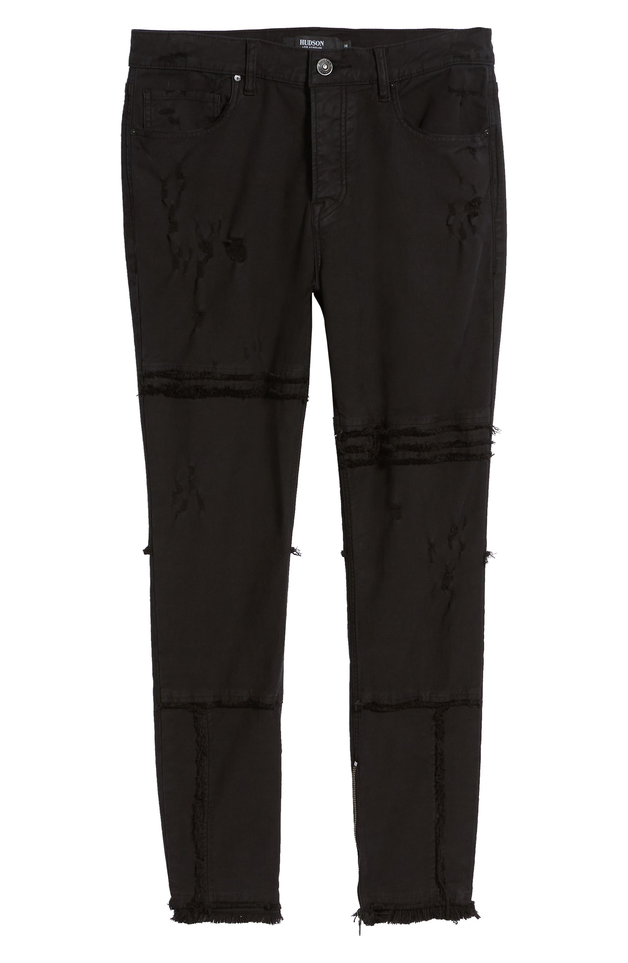 Vaughn Moto Skinny Fit Jeans,                             Alternate thumbnail 6, color,                             FARRELL