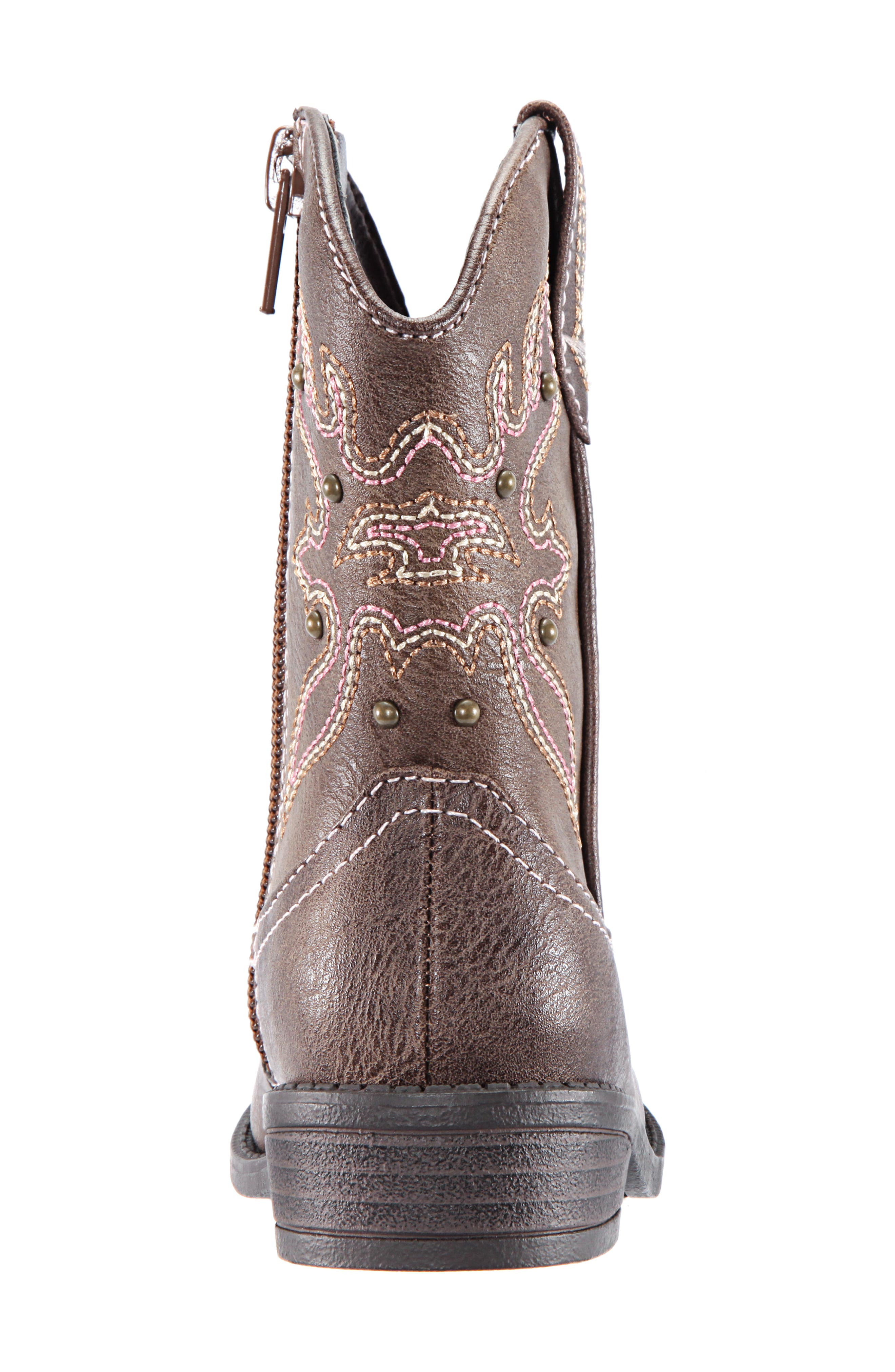 Mirabele Cowboy Boot,                             Alternate thumbnail 7, color,                             BROWN