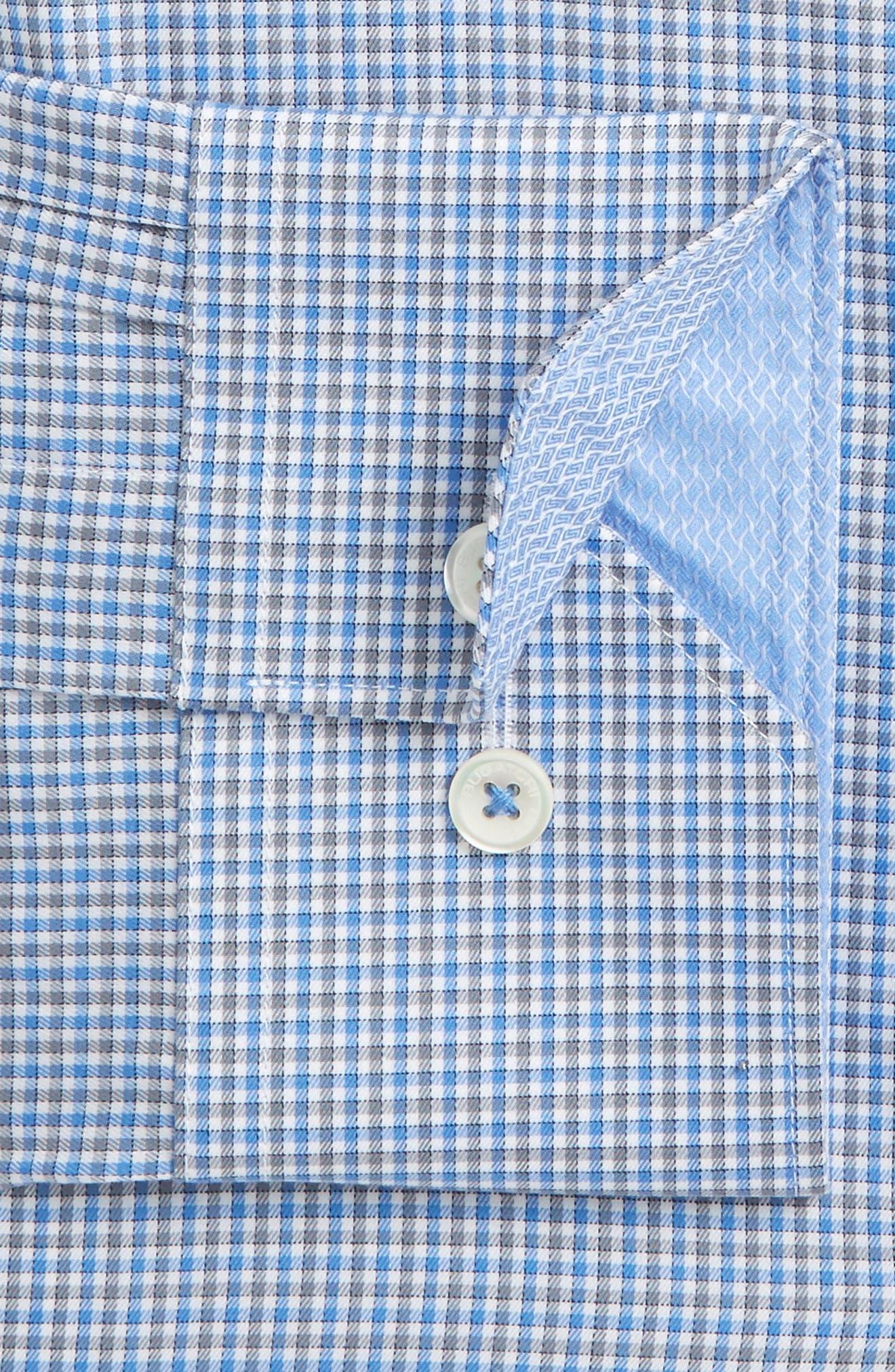 Trim Fit Check Dress Shirt,                             Main thumbnail 1, color,                             422