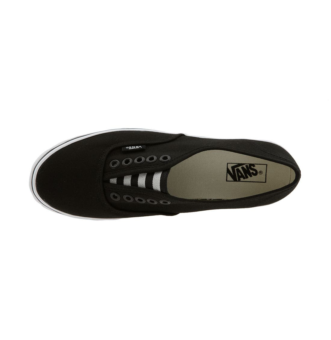 'Authentic - Lo Pro' Slip-On Sneaker,                             Alternate thumbnail 3, color,                             001