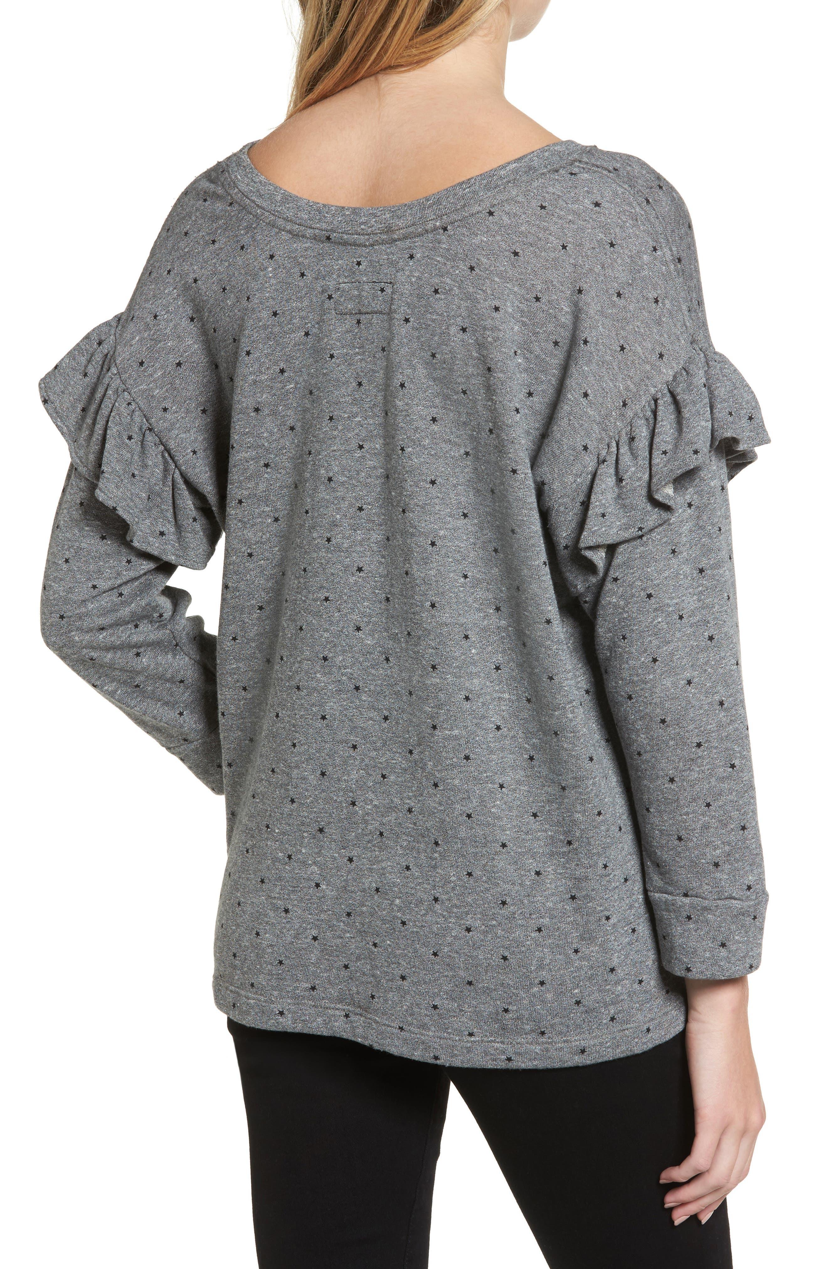 The Ruffle Sweatshirt,                             Alternate thumbnail 2, color,                             096