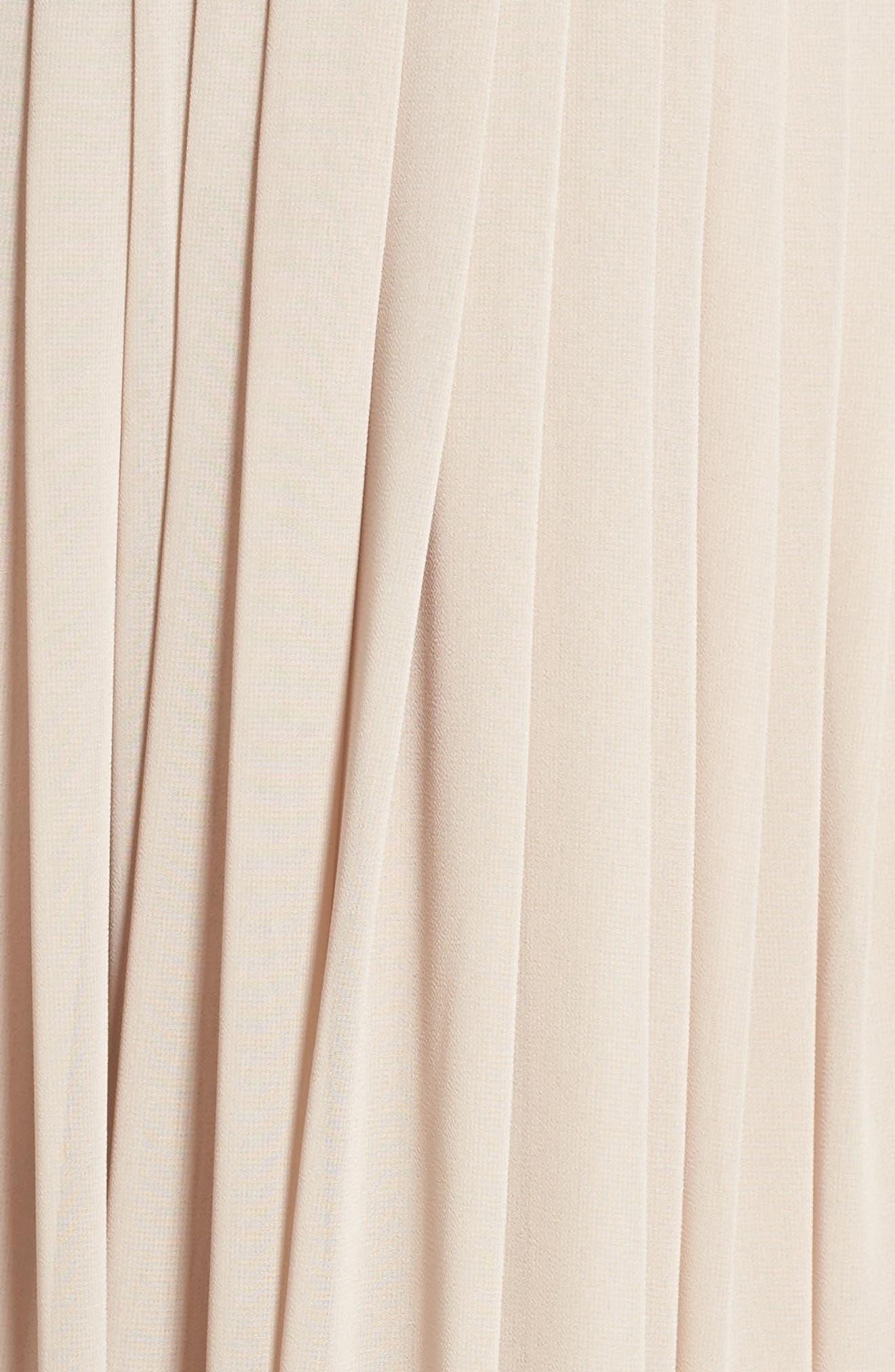 Deep V-Neck Ruffle Pleat Chiffon Gown,                             Alternate thumbnail 29, color,