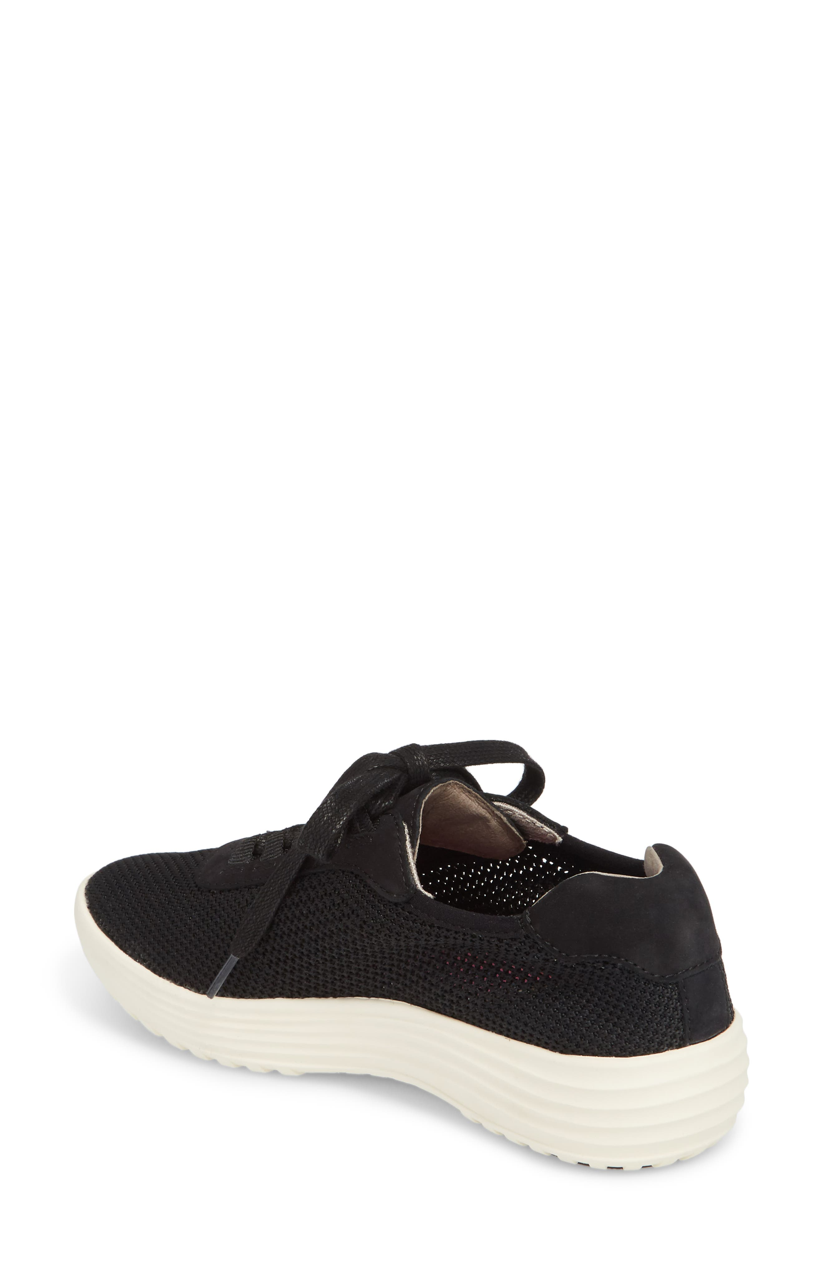 Malibu Sneaker,                             Alternate thumbnail 2, color,                             BLACK KNIT FABRIC