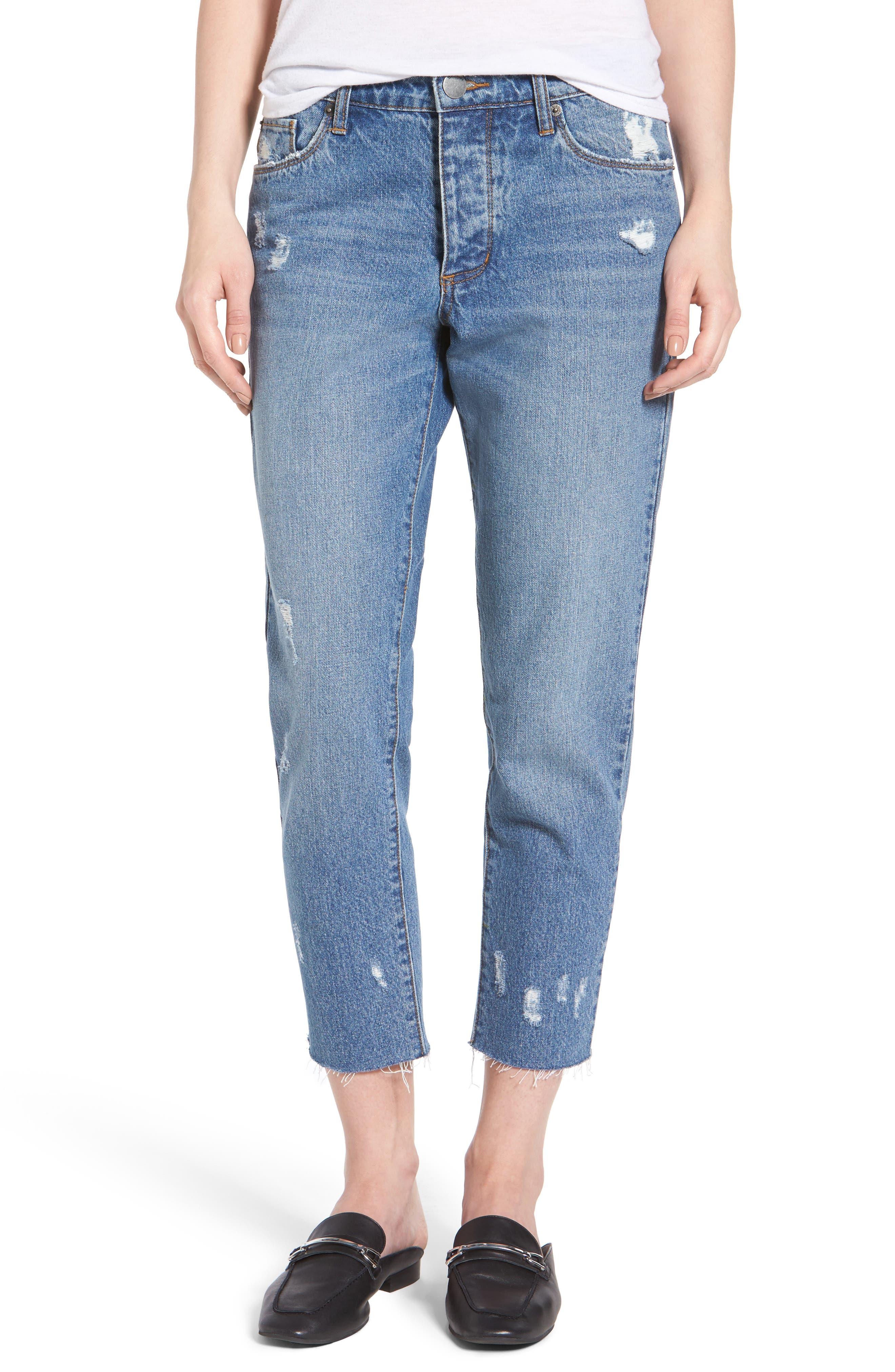 Taylor Ripped Crop Boyfriend Jeans,                             Main thumbnail 1, color,                             400