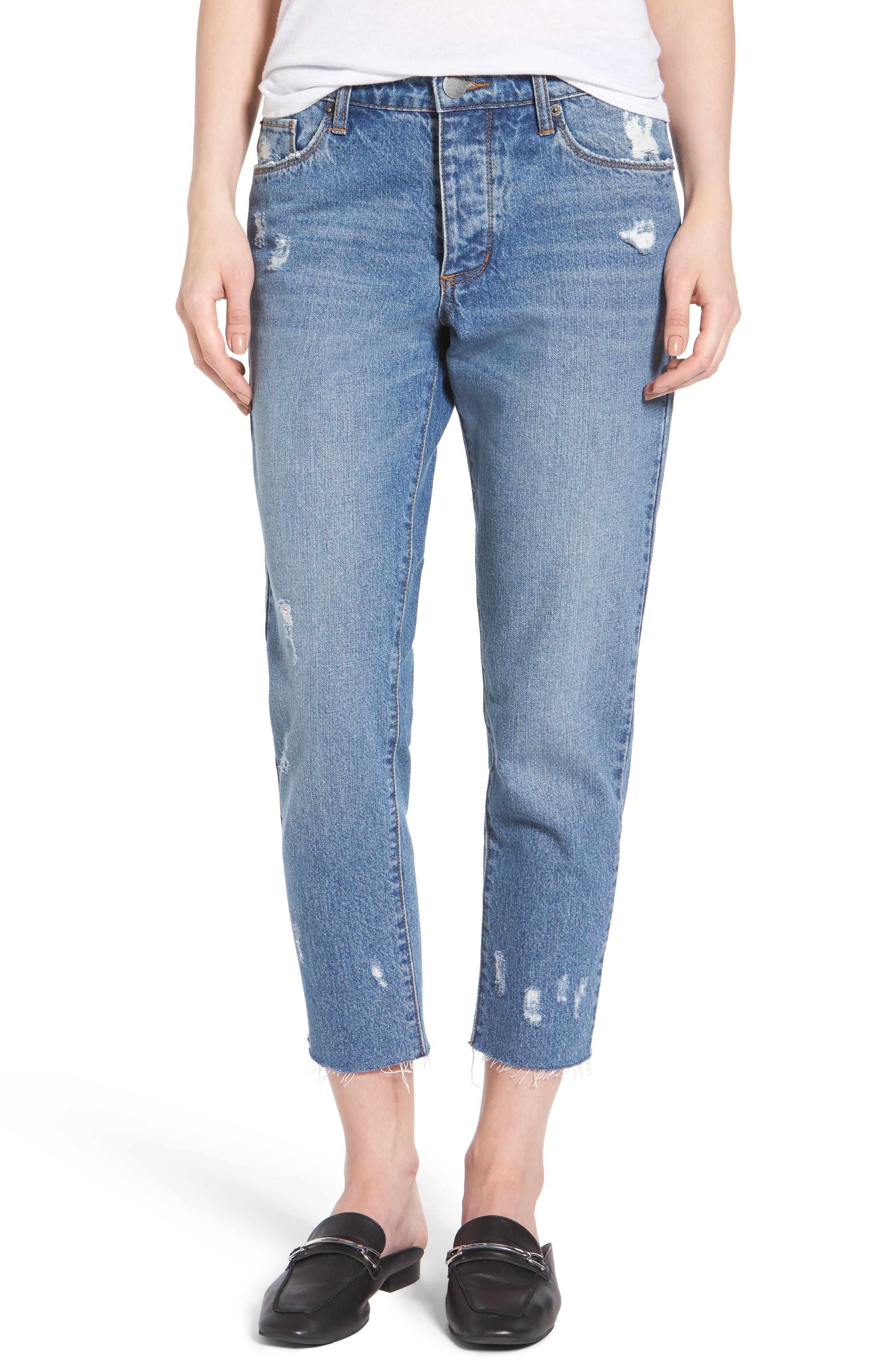 Taylor Ripped Crop Boyfriend Jeans,                         Main,                         color, 400