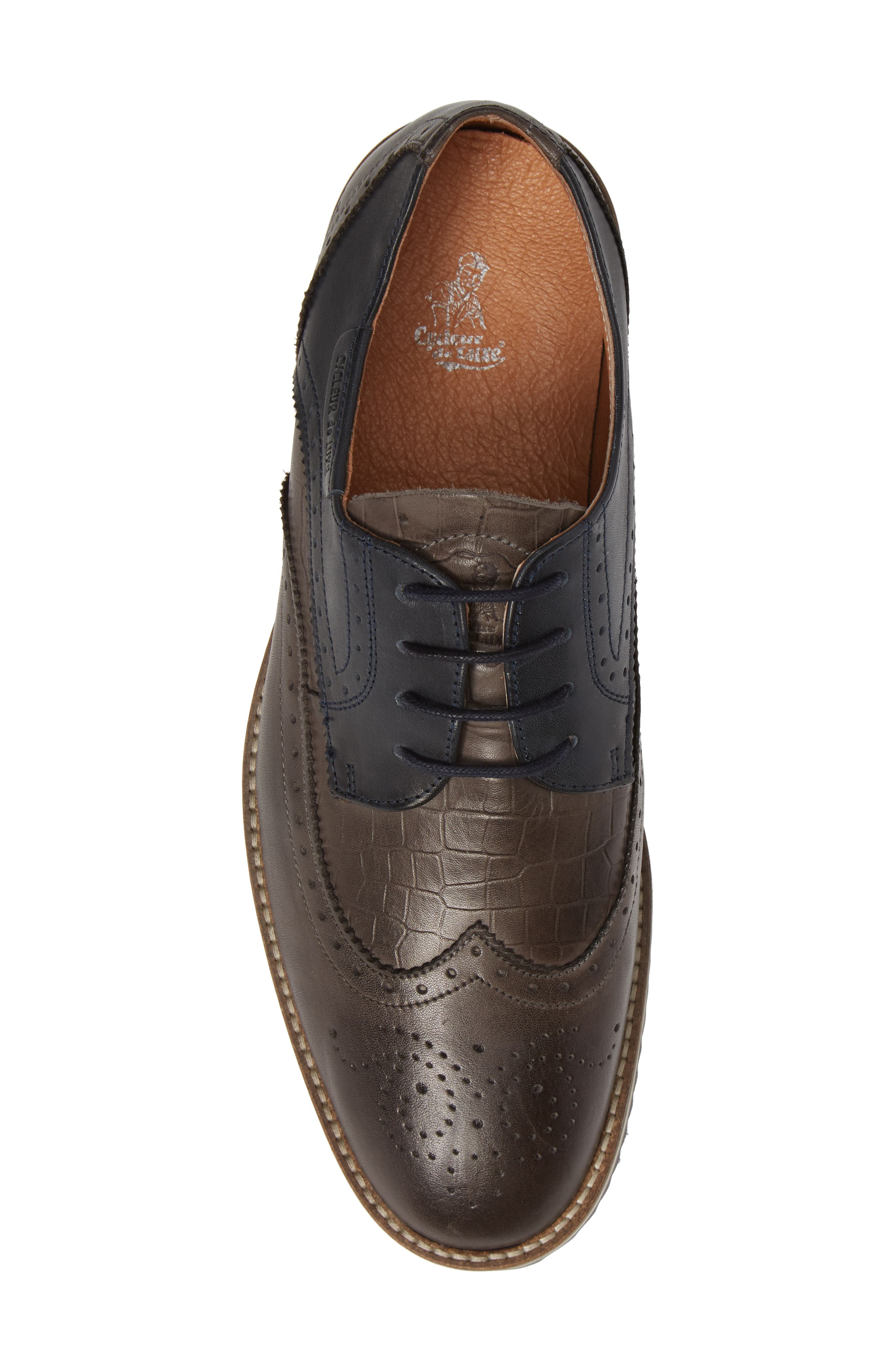 Pulsano Textured Wingtip,                             Alternate thumbnail 5, color,                             ANTHRACITE