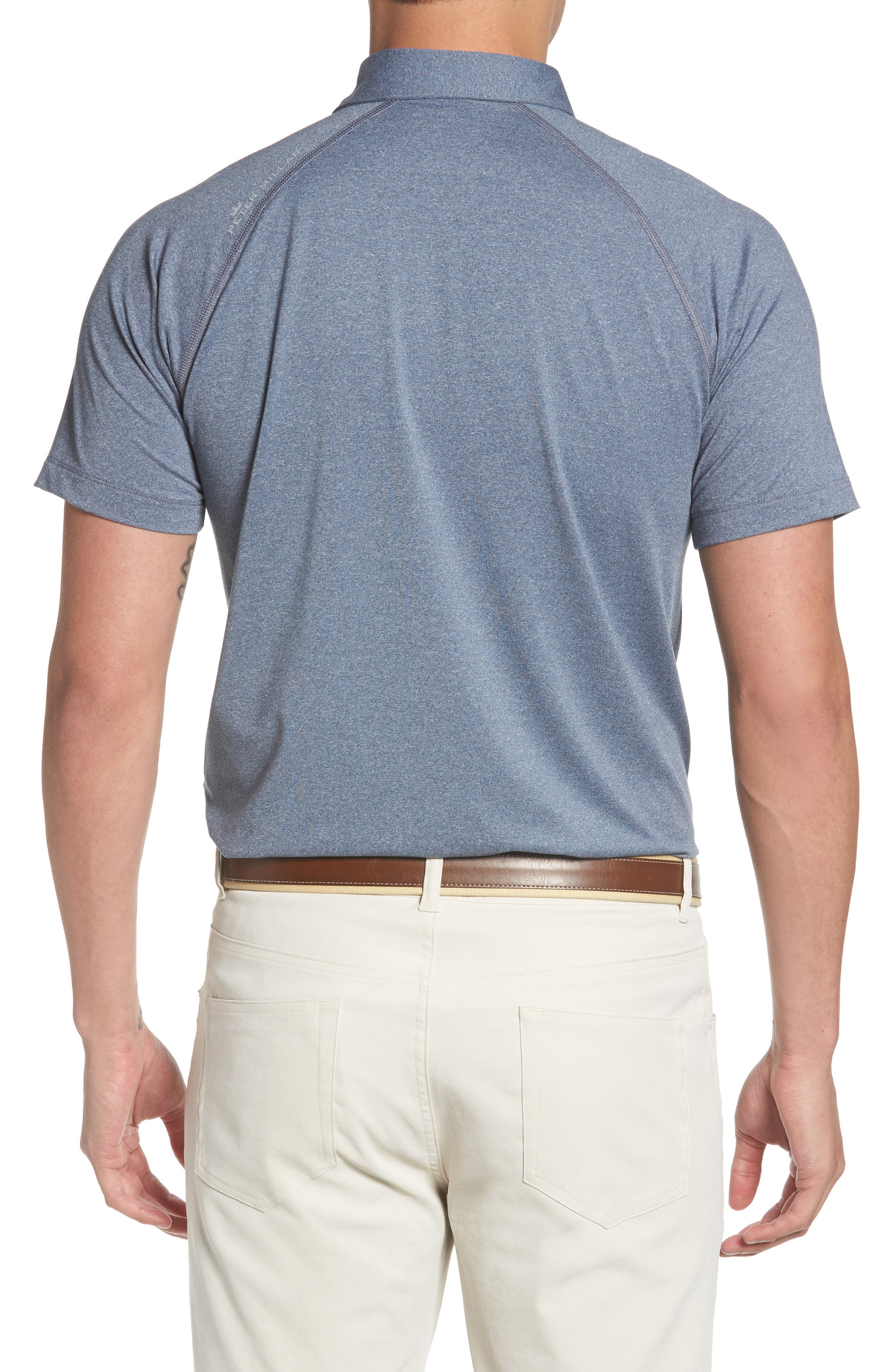 Crown Sport Amsterdam Technical Polo,                             Alternate thumbnail 2, color,                             YANKEE BLUE