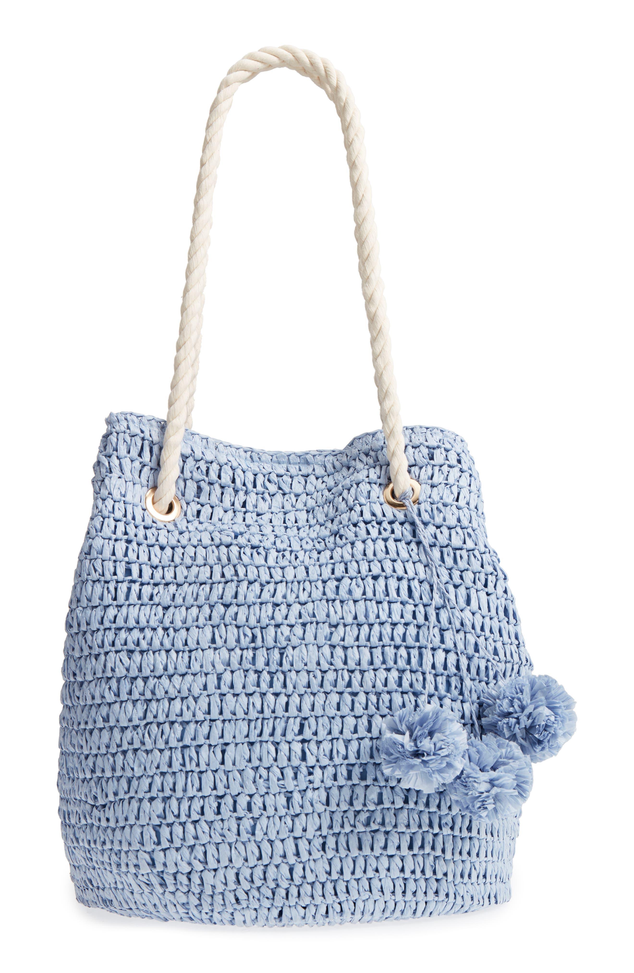 Mama Straw Bucket Bag,                             Main thumbnail 2, color,