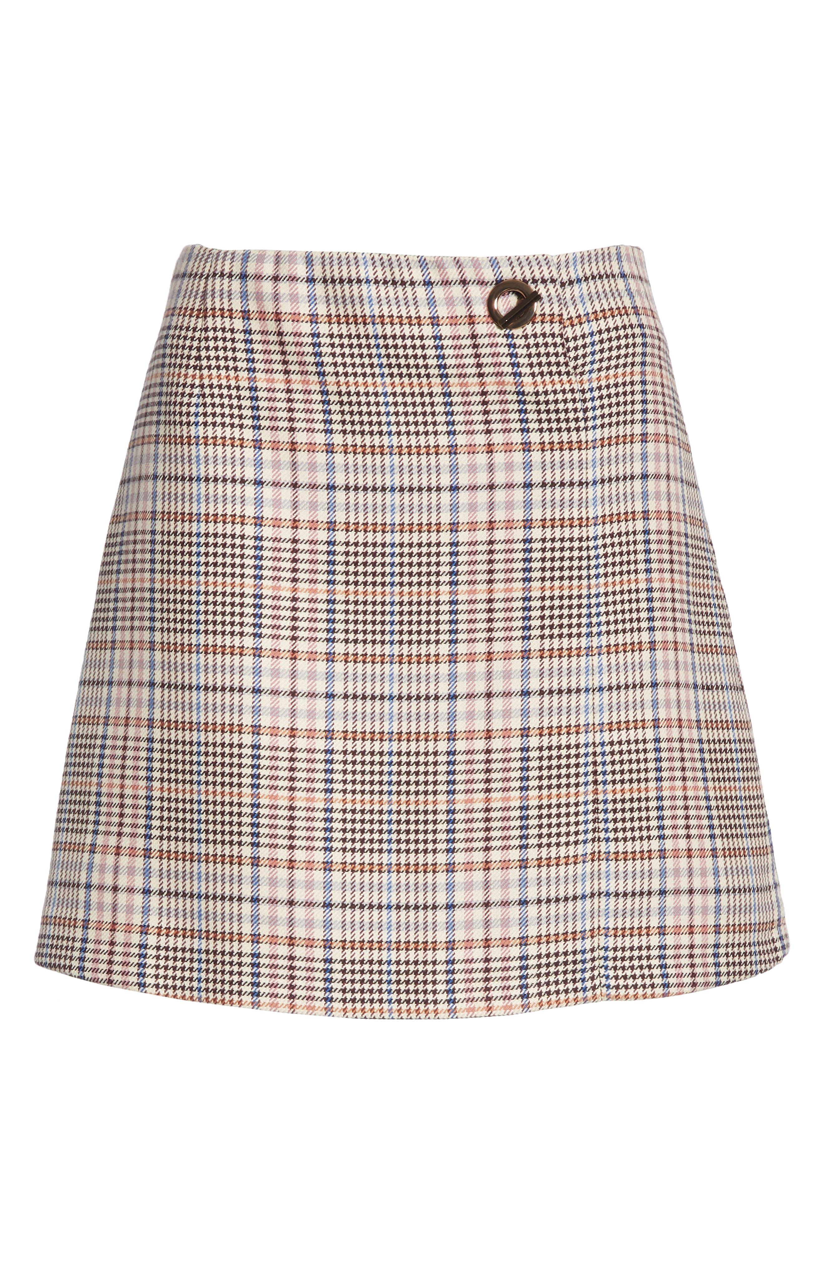 Plaid Miniskirt,                             Alternate thumbnail 6, color,                             650