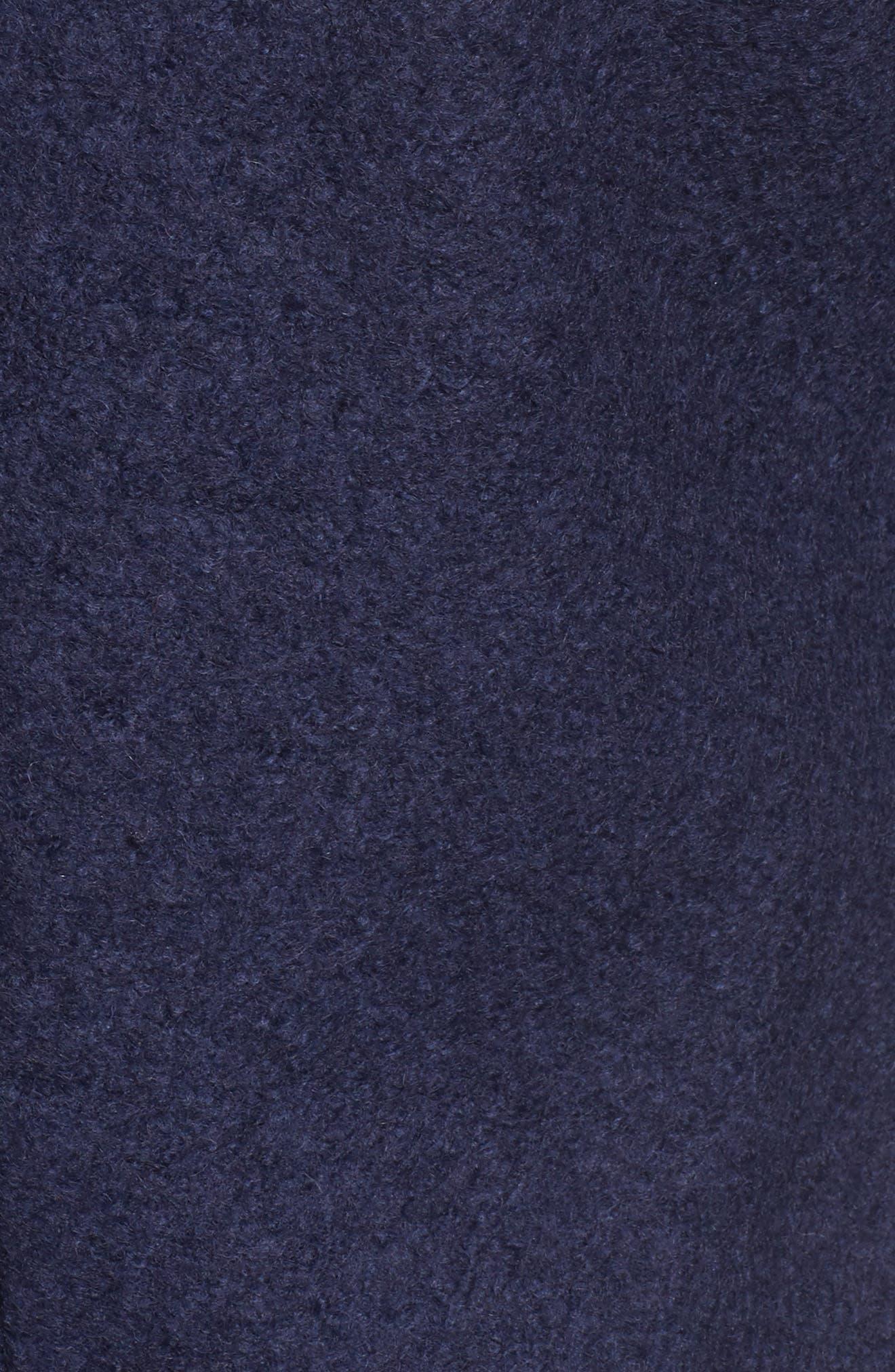 Pressed Bouclé Coat,                             Alternate thumbnail 6, color,                             513