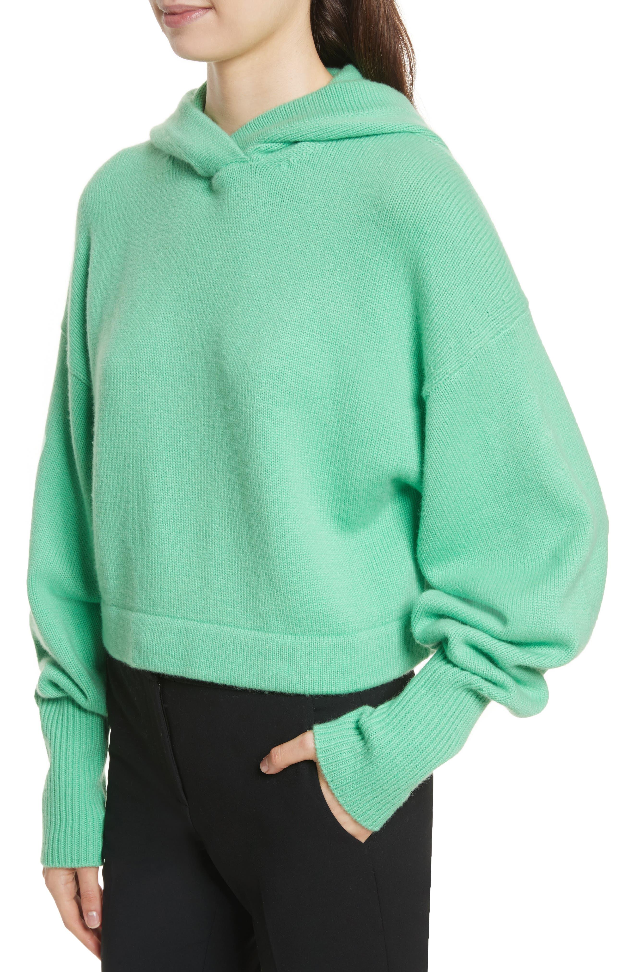 Blouson Sleeve Cashmere Hoodie,                             Alternate thumbnail 8, color,