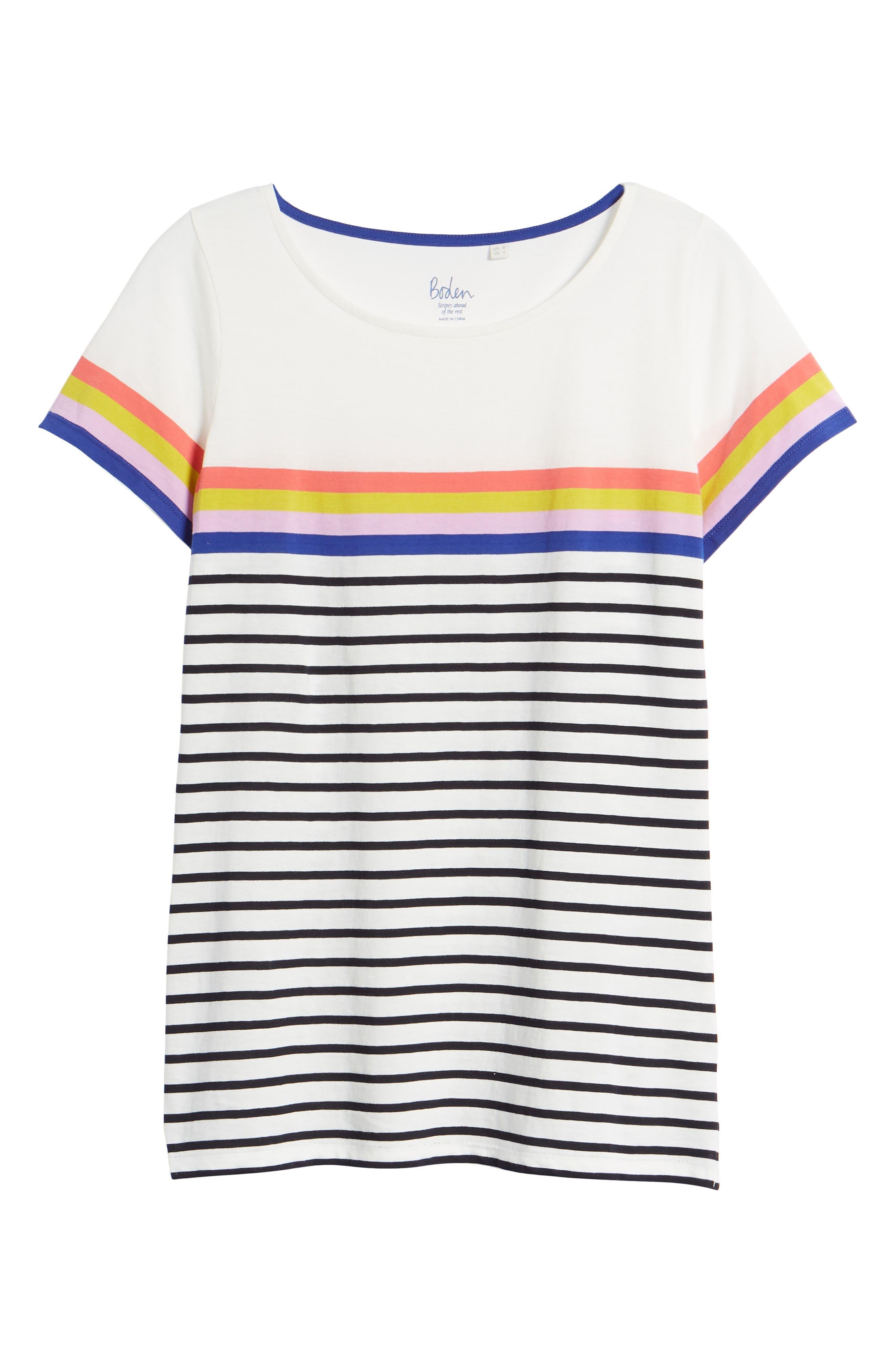 Breton Short Sleeve Stripe Cotton Top,                             Alternate thumbnail 30, color,