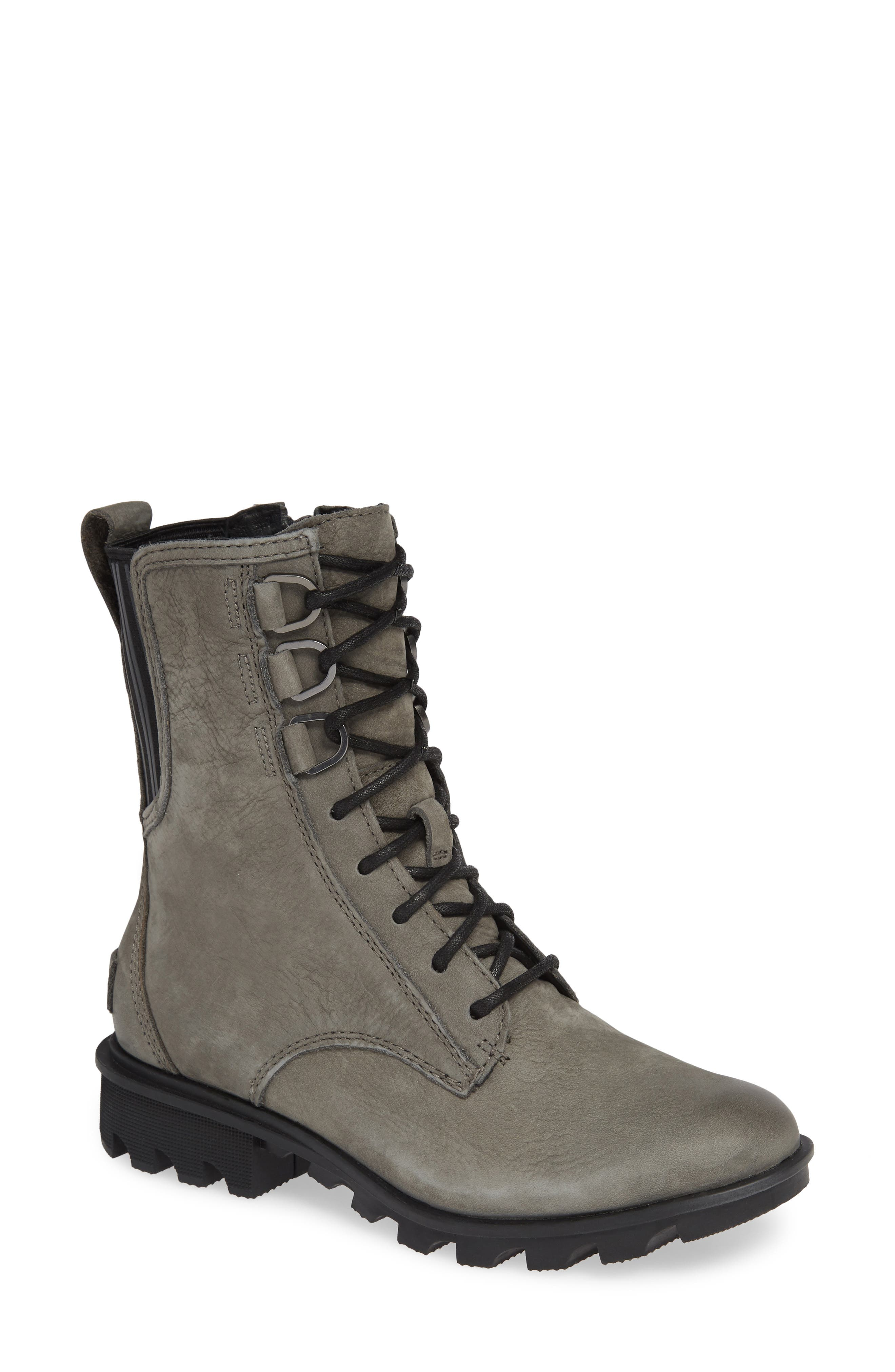 Sorel Phoenix Lace-Up Boot, Grey