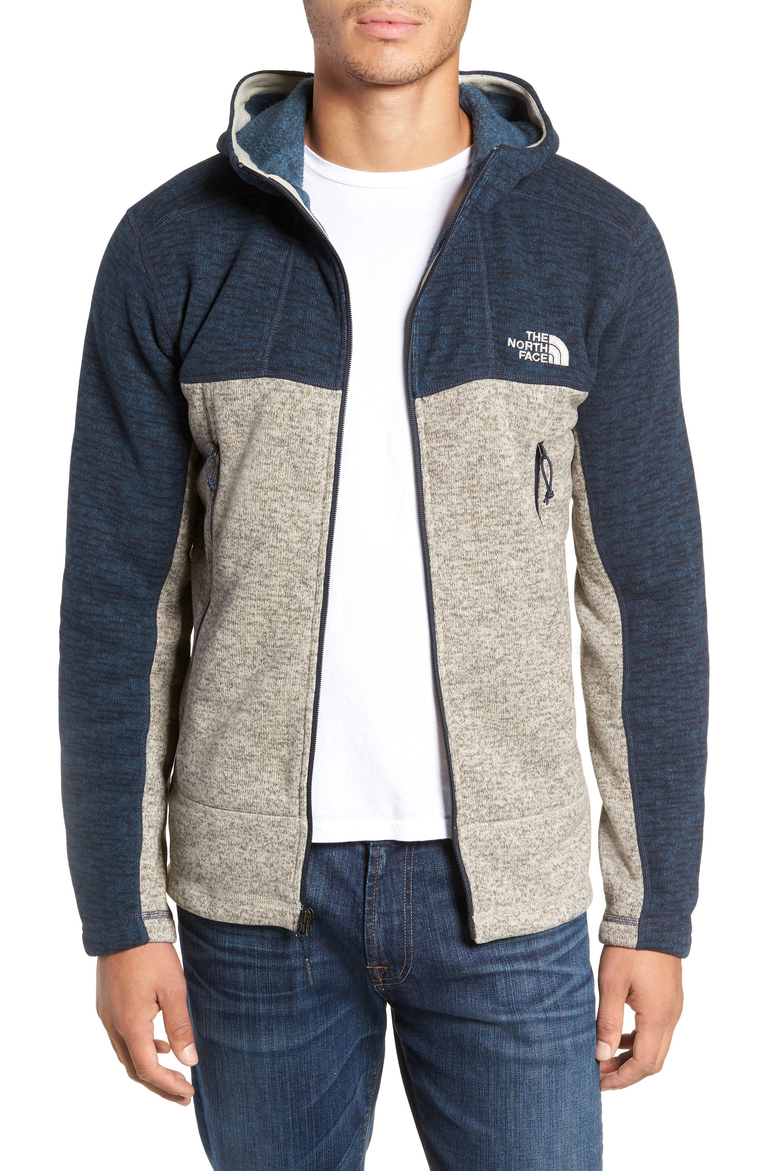 Gordon Lyons Alpine Sweater Fleece Hoodie,                         Main,                         color, URBAN NAVY/ GRANITE BLUFF TAN