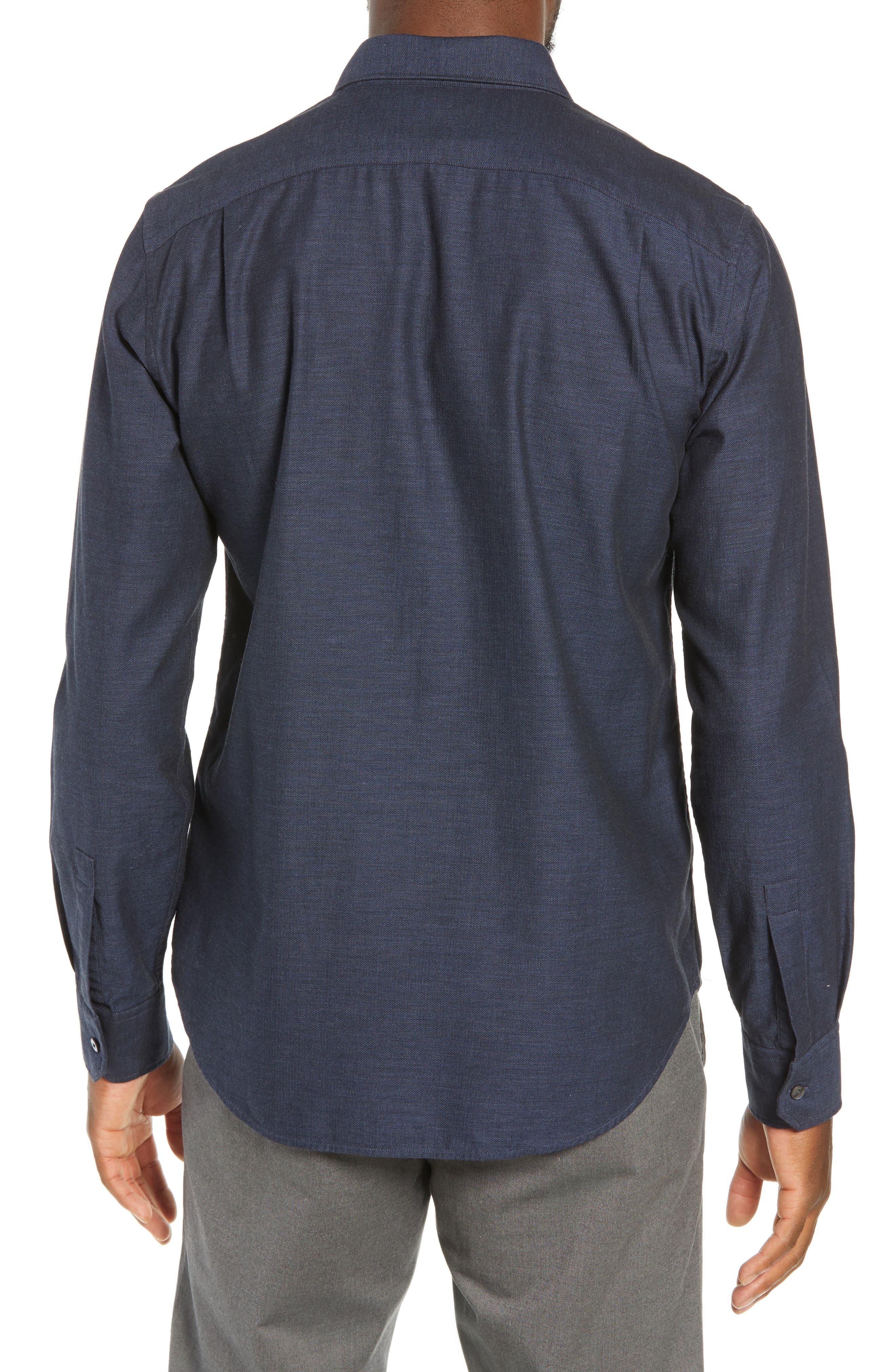 Unbutton Down Slim Fit Sport Shirt,                             Alternate thumbnail 3, color,                             400